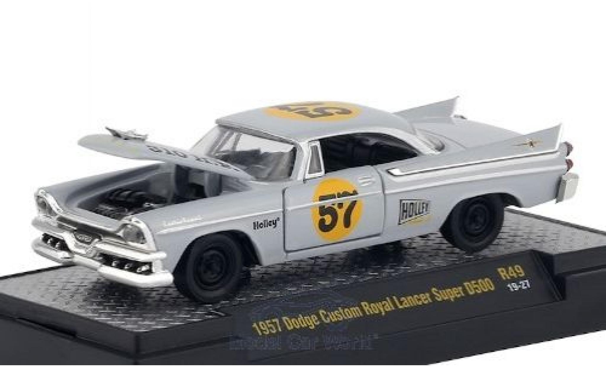 Dodge Custom Royal Lancer 1/64 M2 Machines Super D500 grey/Dekor 1957