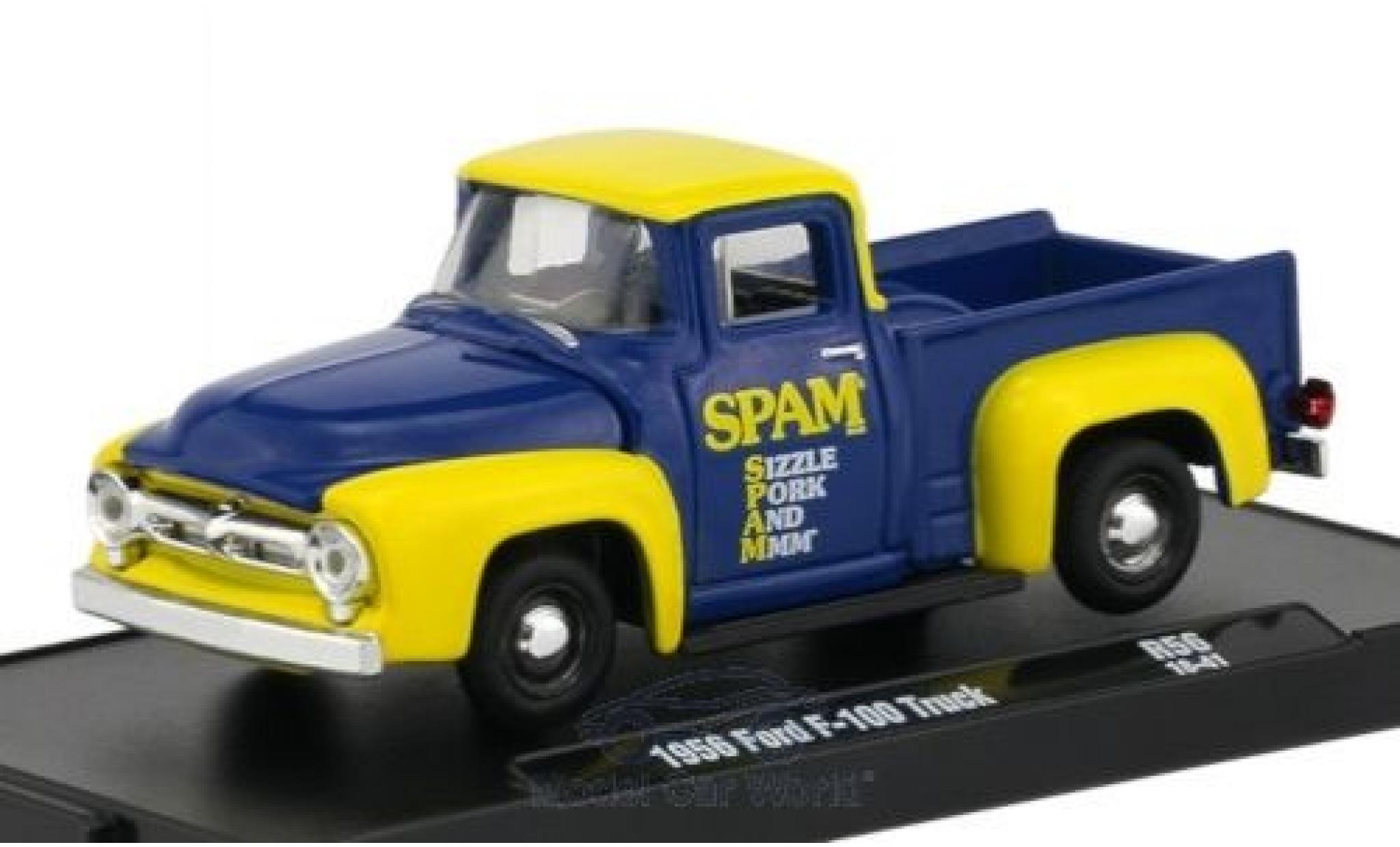 Ford F-1 1/64 M2 Machines 00 bleue/jaune 1956