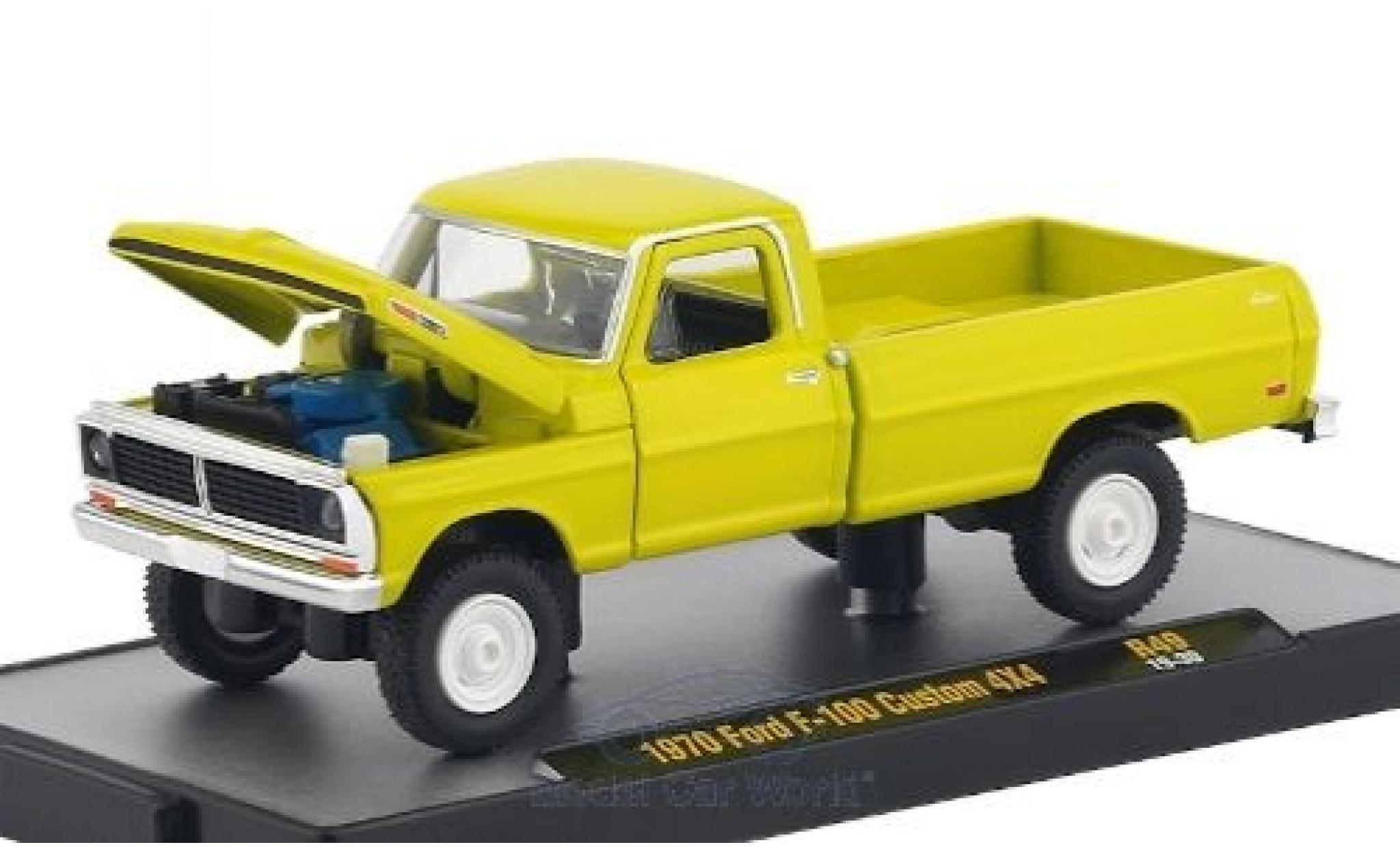 Ford F-1 1/64 M2 Machines 00 Custom 4x4 jaune 1970