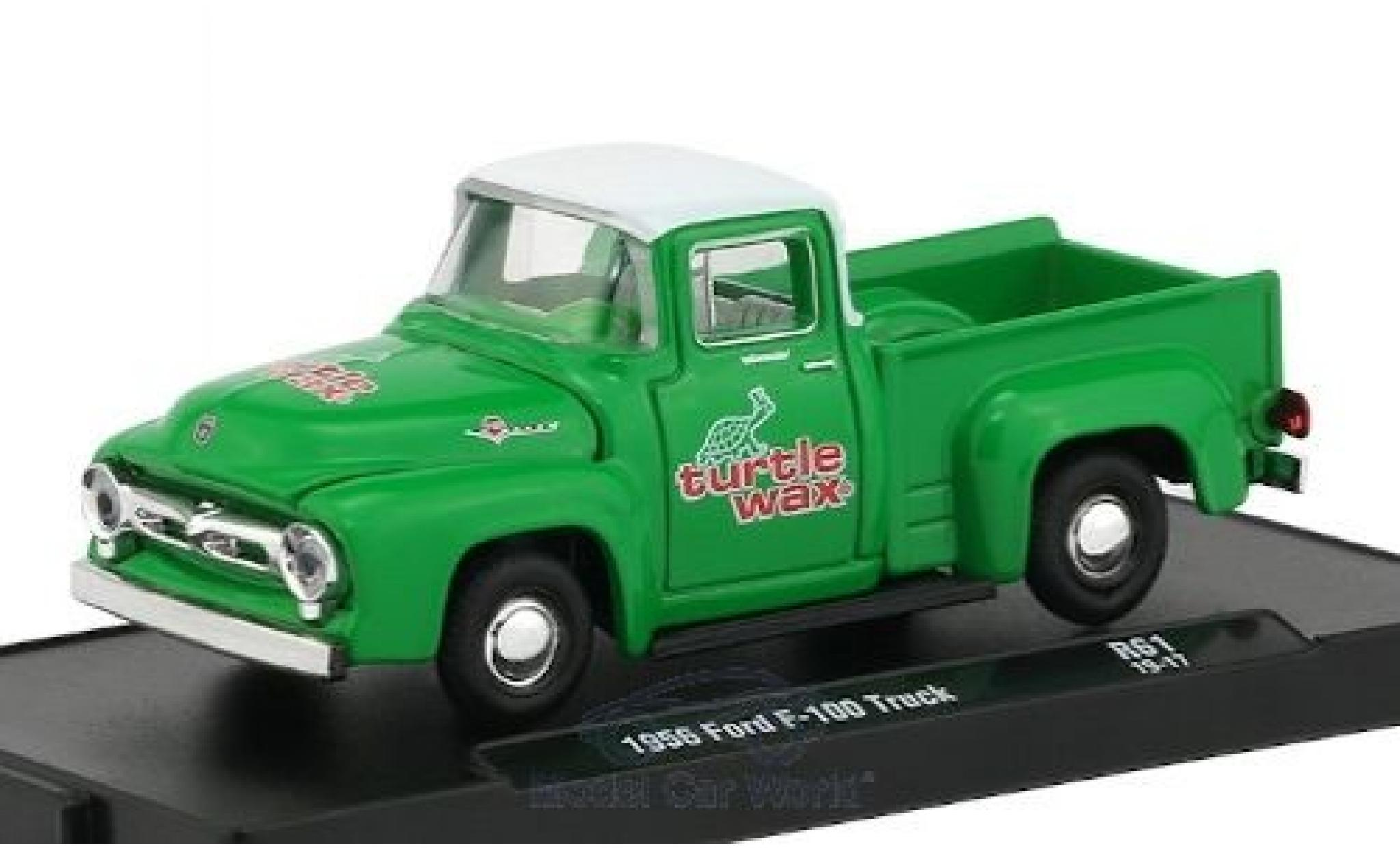 Ford F-1 1/64 M2 Machines 00 verte/blanche Turtle Wax 1956