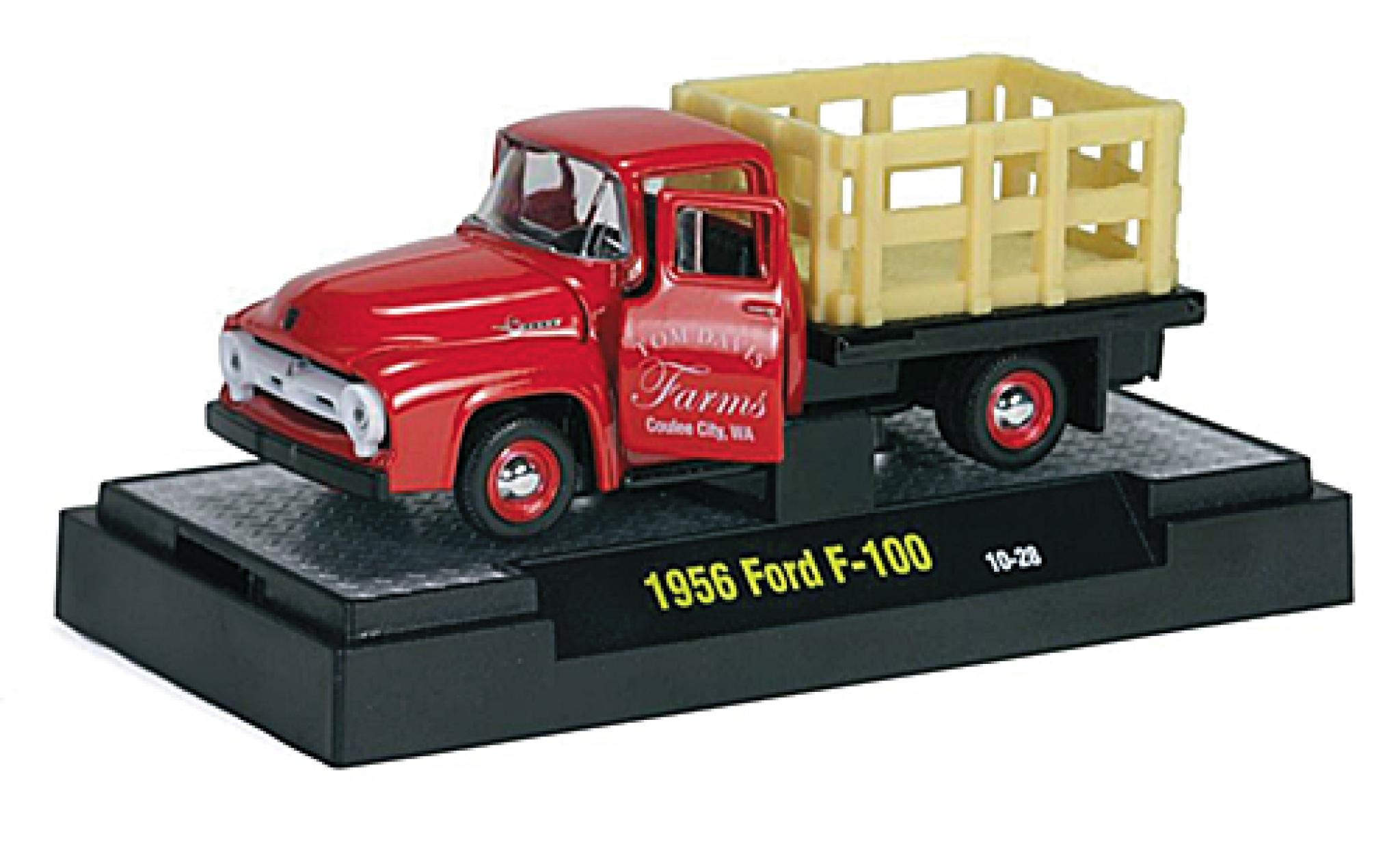 Ford F-1 1/64 M2 Machines 00 rouge Tom Davis Farms 1956