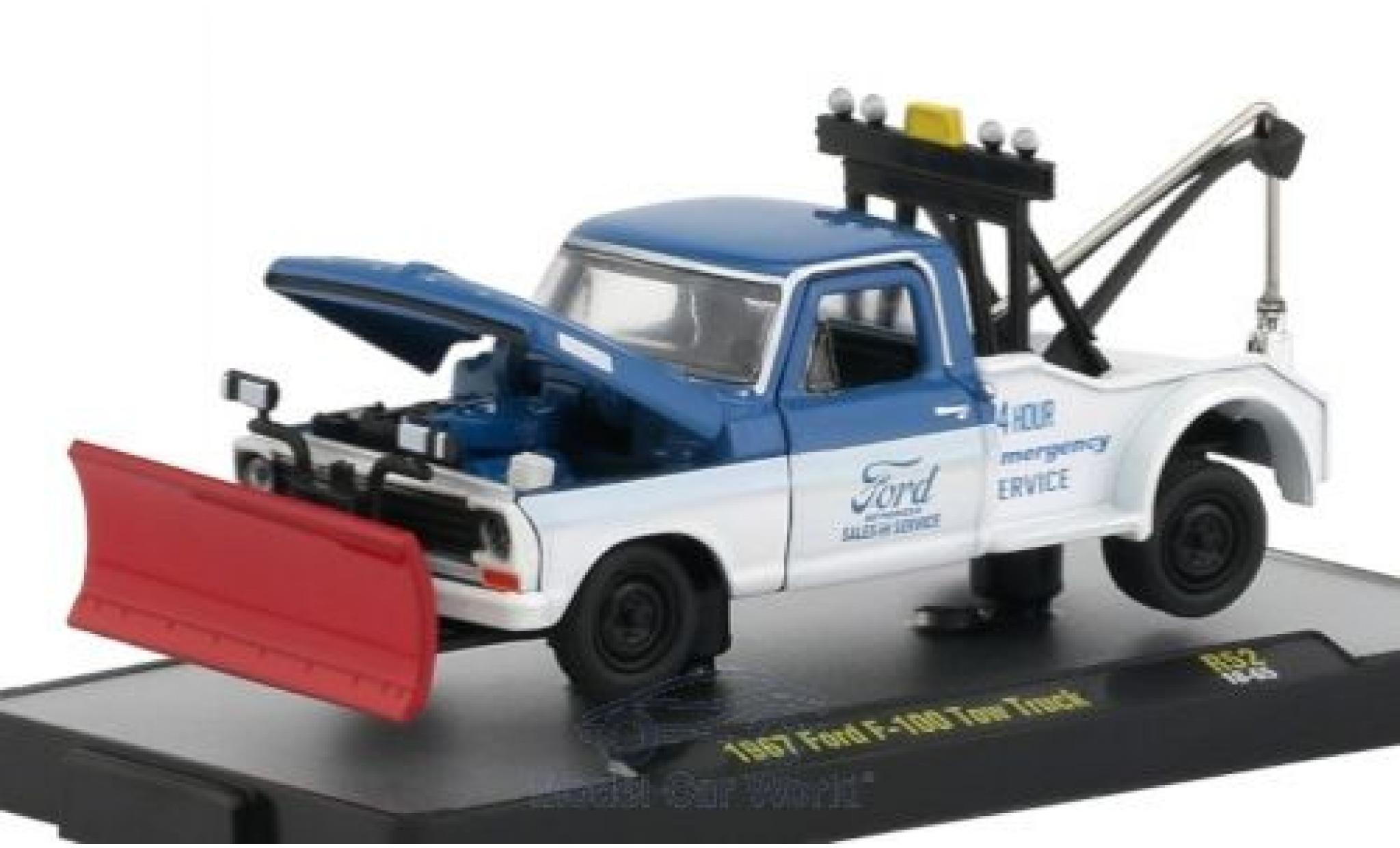 Ford F-1 1/64 M2 Machines 00 Tow Truck bleue/blanche 1967