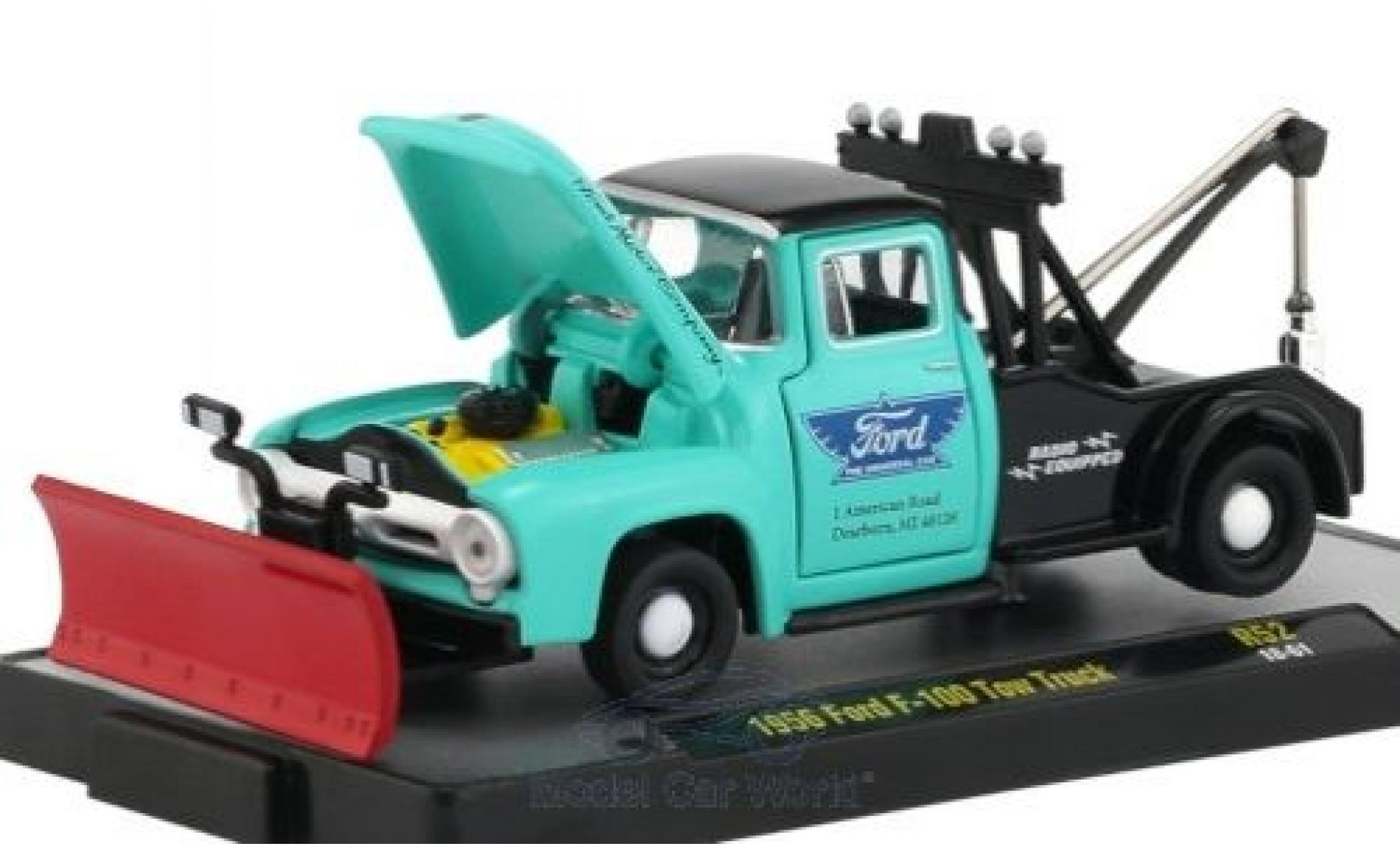 Ford F-1 1/64 M2 Machines 00 Tow Truck turquoise/noire 1956