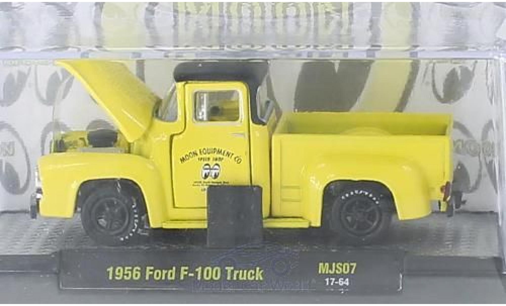 Ford F-1 1/64 M2 Machines 00 Truck jaune/noire Moon Equipment Co. 1956