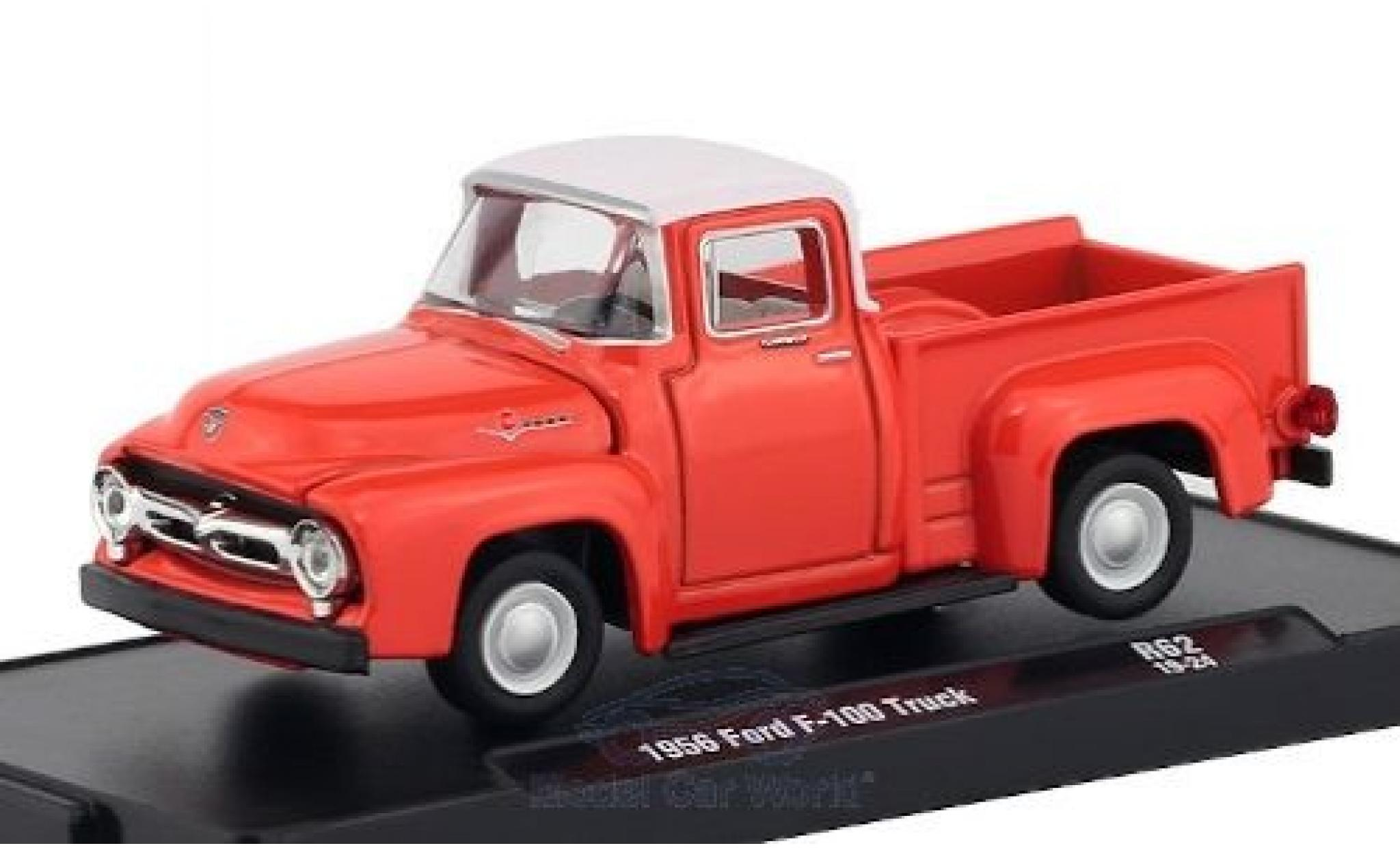 Ford F-1 1/64 M2 Machines 00 Truck rouge/blanche 1956