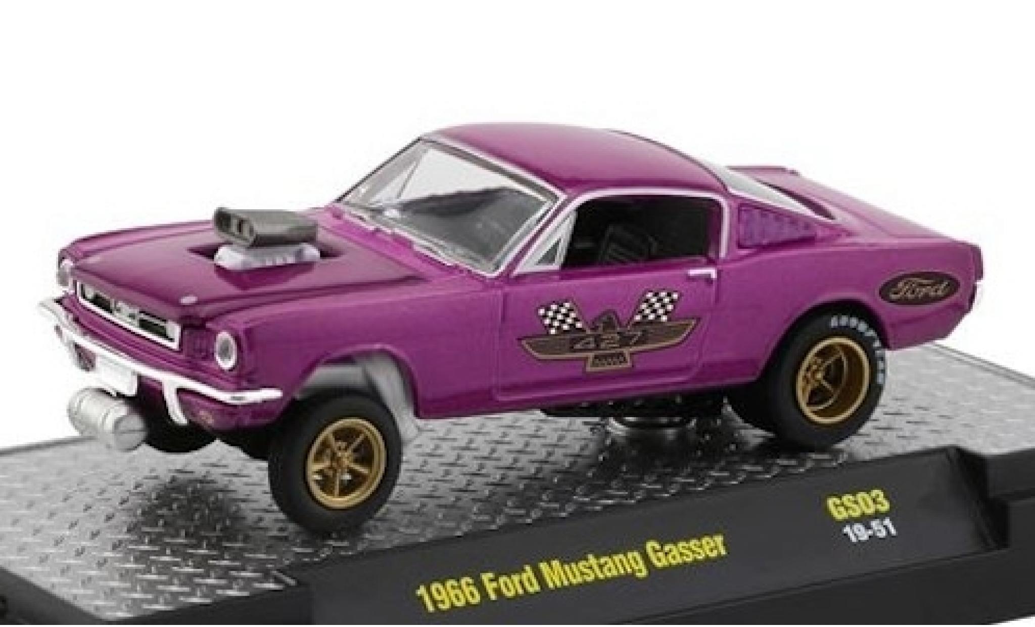 Ford Mustang 1/64 M2 Machines Gasser metallise lila 427 1966
