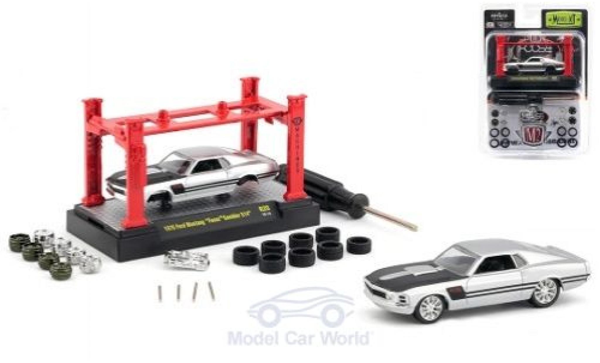 Ford Mustang 1970 1/64 M2 Machines grey/black Foose Gamble 514 1970 Model-Kit Bausatz inklusive 4 Ersatzrädern