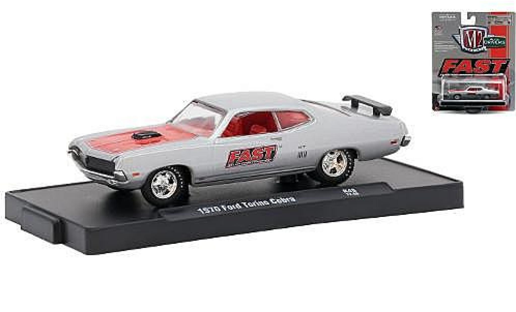 Ford Torino 1/64 M2 Machines Cobra grise/rouge FAST (Fuel Air Spark Technology) 1970