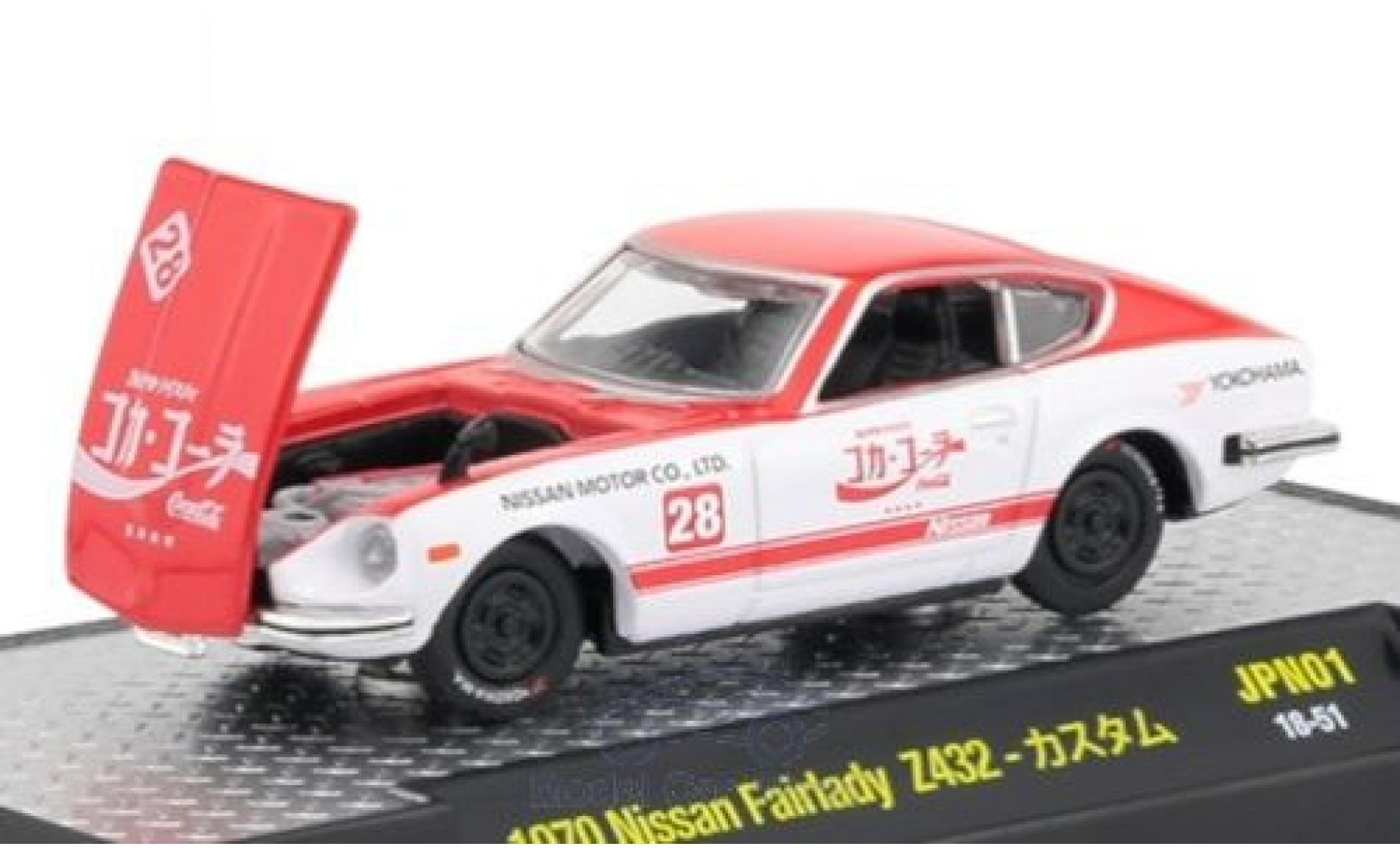 Nissan Fairlady Z Z432 1/64 M2 Machines 432 rot/weiss Coca Cola 1970