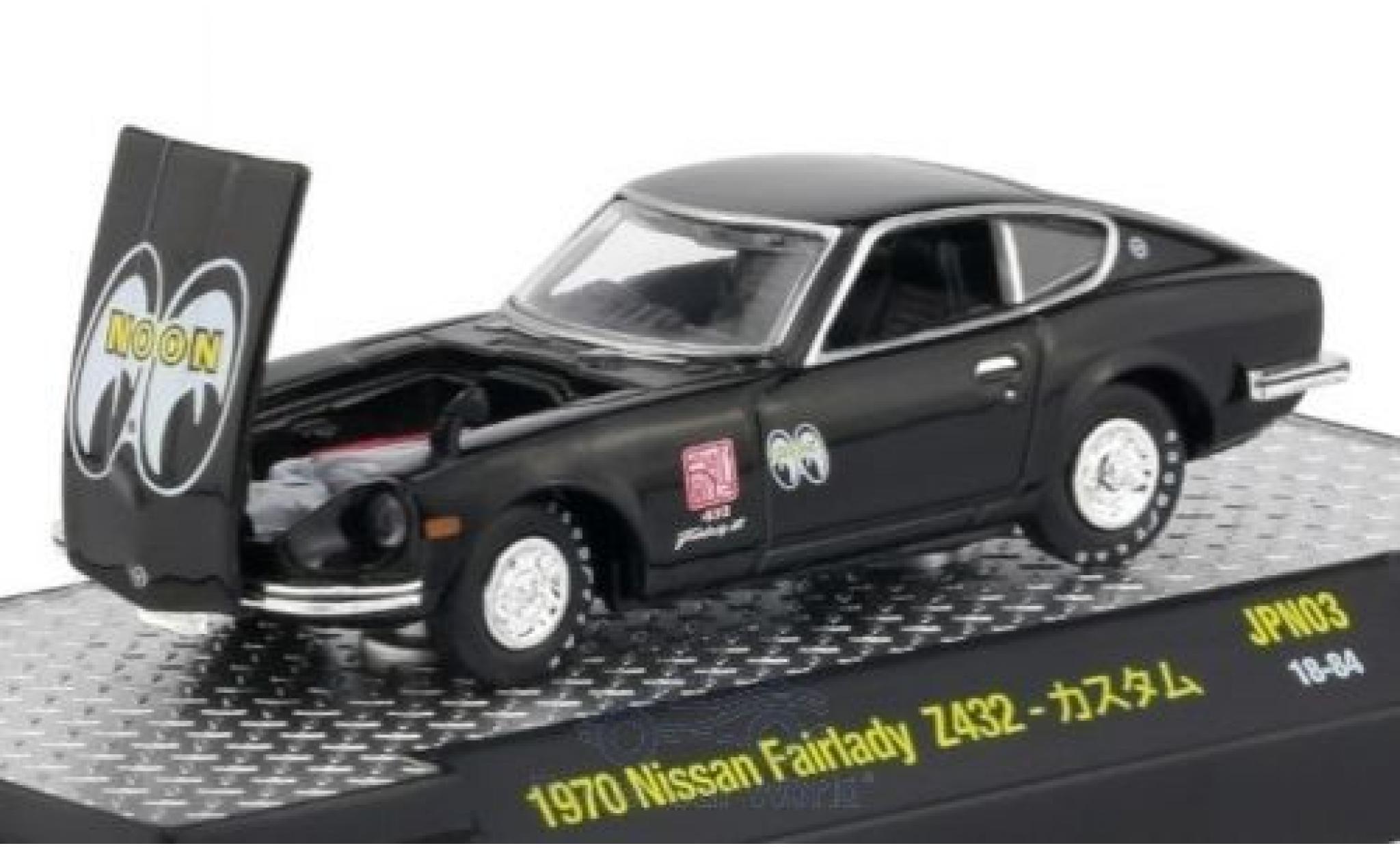 Nissan Fairlady Z 1/64 M2 Machines 432 noire 1970