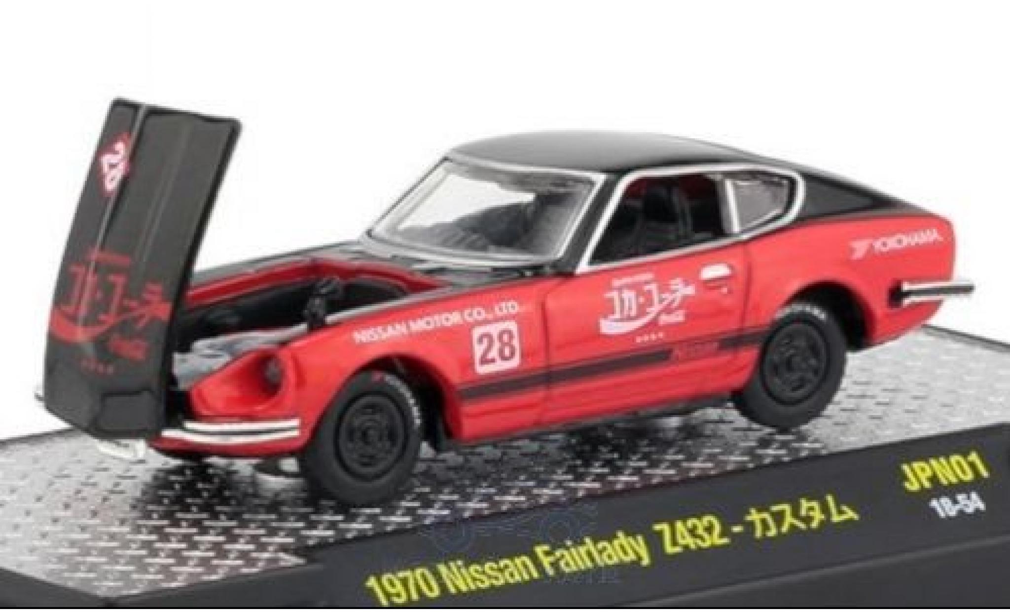 Nissan Fairlady Z Z432 1/64 M2 Machines 432 schwarz/rot Coca Cola 1970