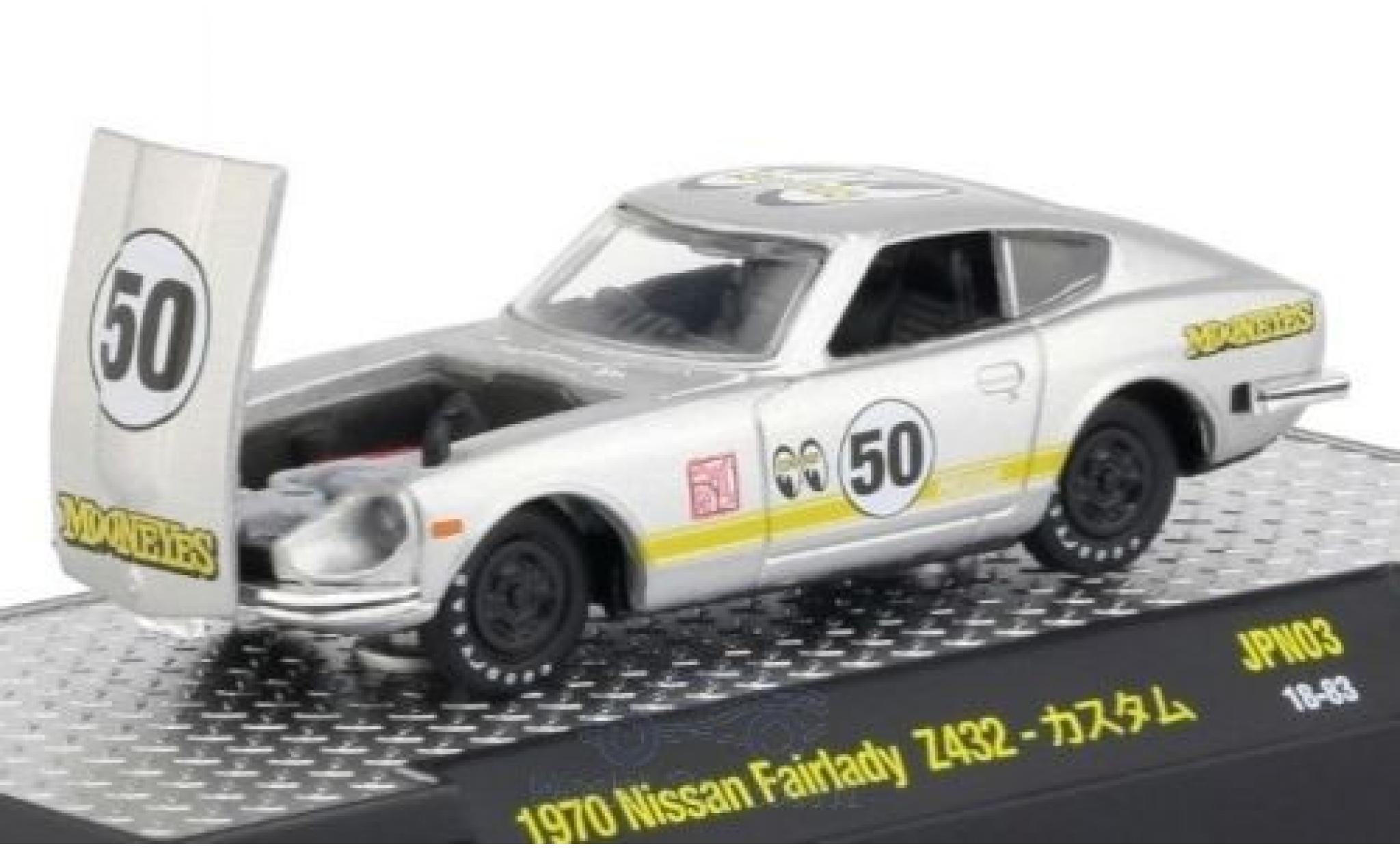 Nissan Fairlady Z 1/64 M2 Machines 432 grise 1970