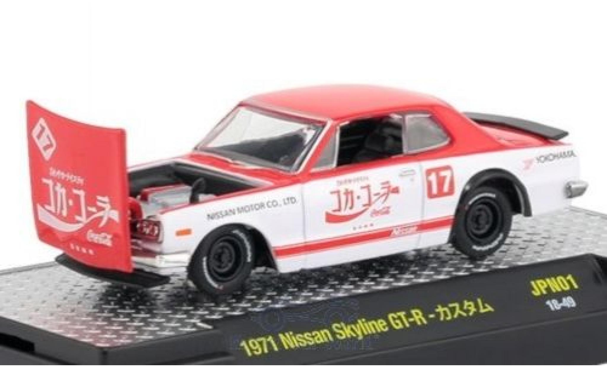 Nissan Skyline 1/64 M2 Machines GT-R red/white Coca Cola 1971