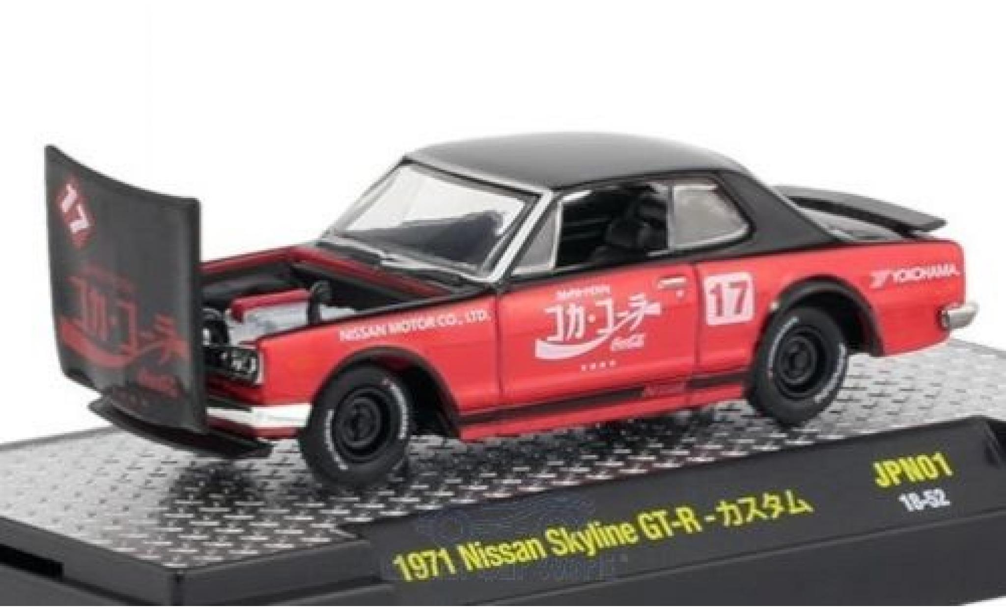 Nissan Skyline 1/64 M2 Machines GT-R negro/rojo Coca Cola 1971