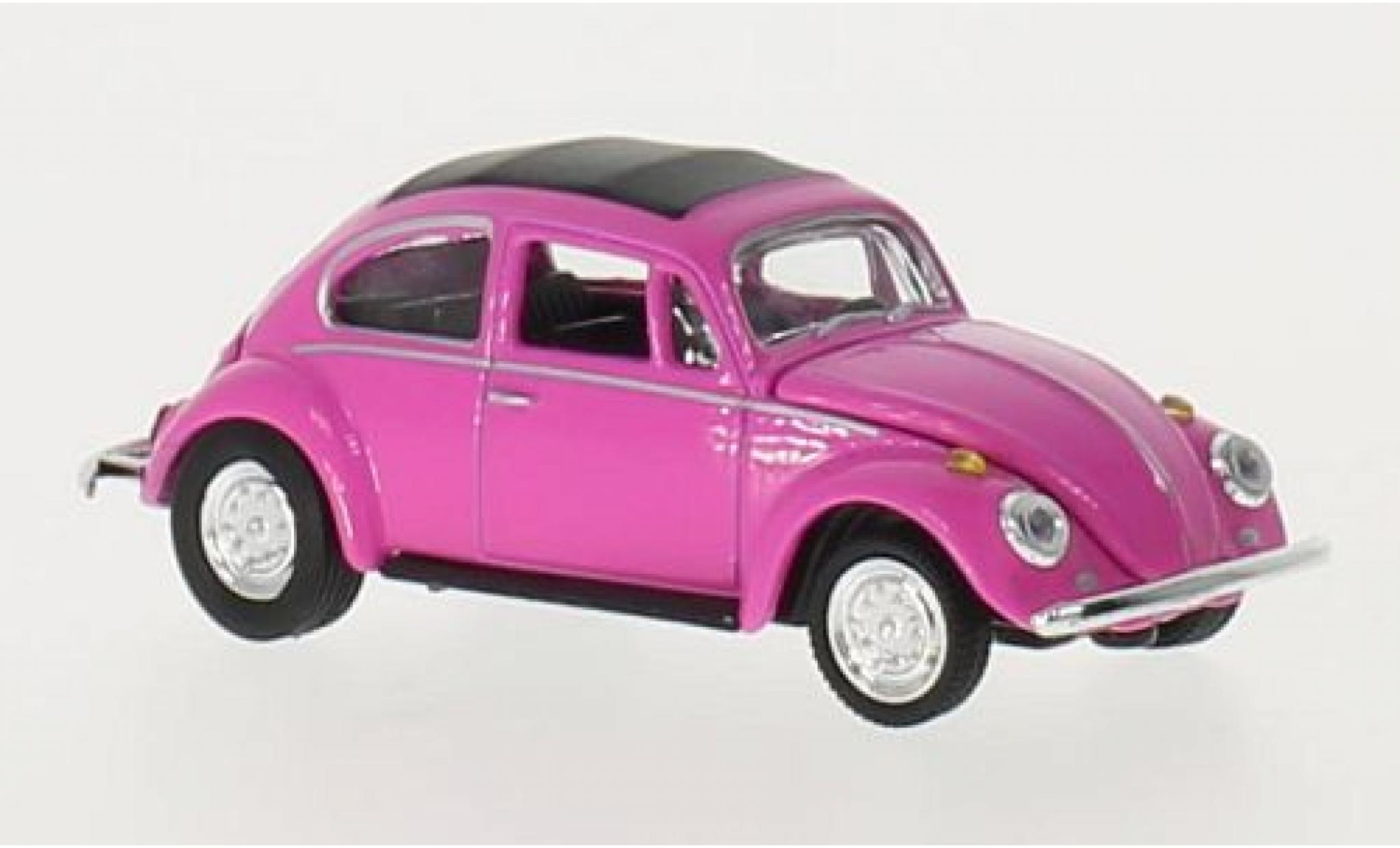 Volkswagen Beetle 1/64 M2 Machines Deluxe rose U.S.A.Model 1967 grisene jantes