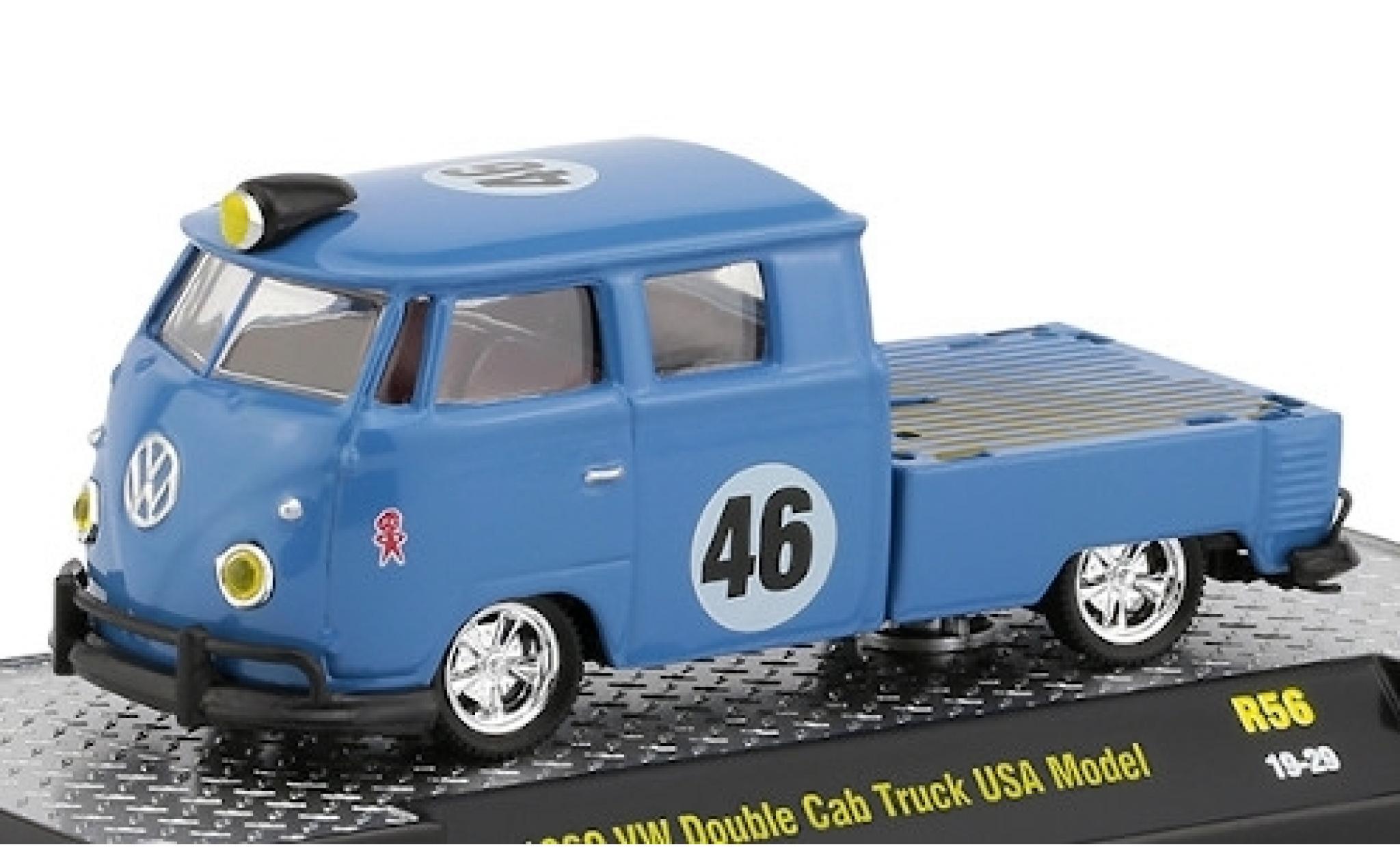 Volkswagen T1 1/64 M2 Machines DoKa Pritsche bleue 1960 No.46