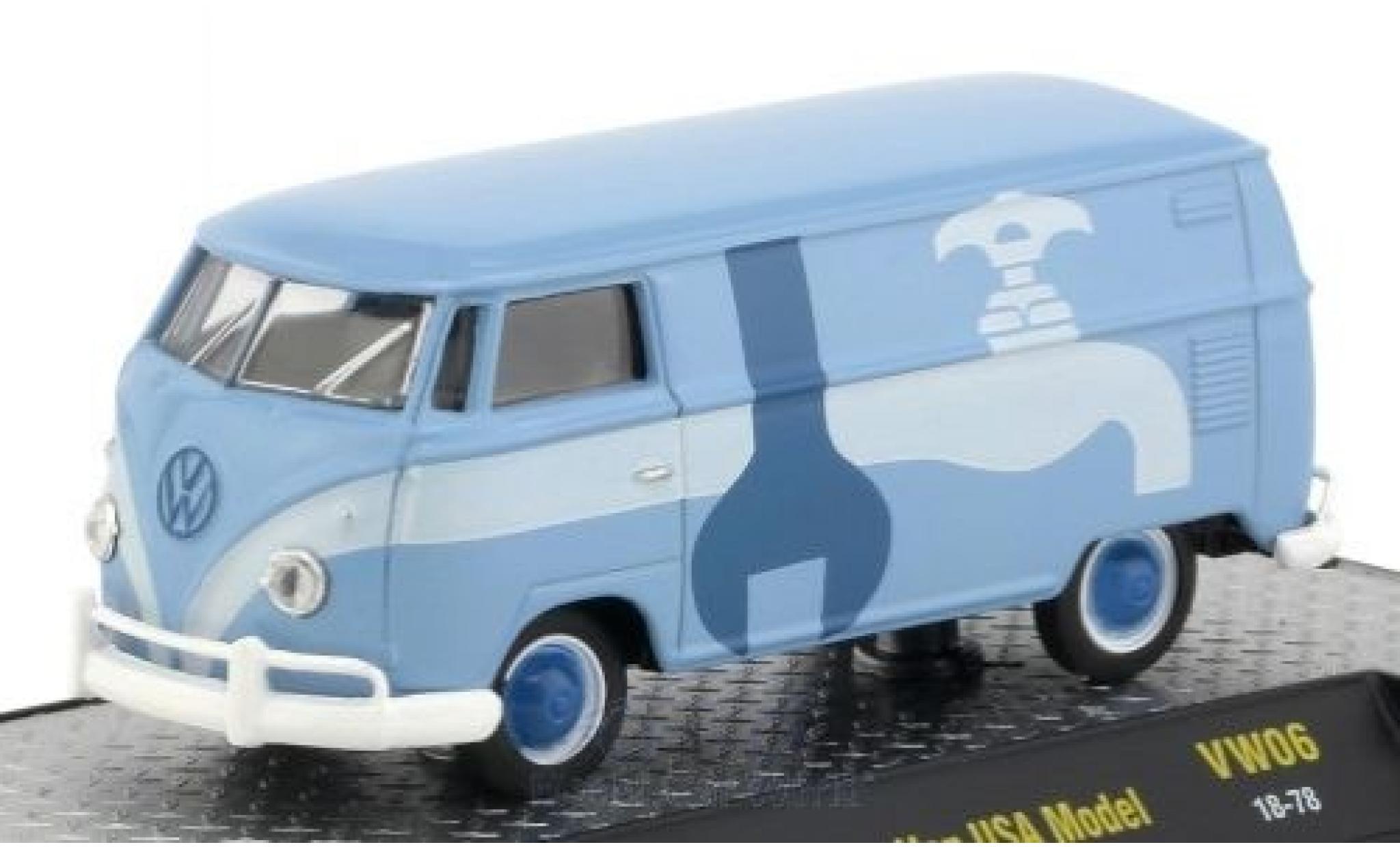Volkswagen T1 B 1/64 M2 Machines Kastenwagen blue/Dekor 1960 USA-Version