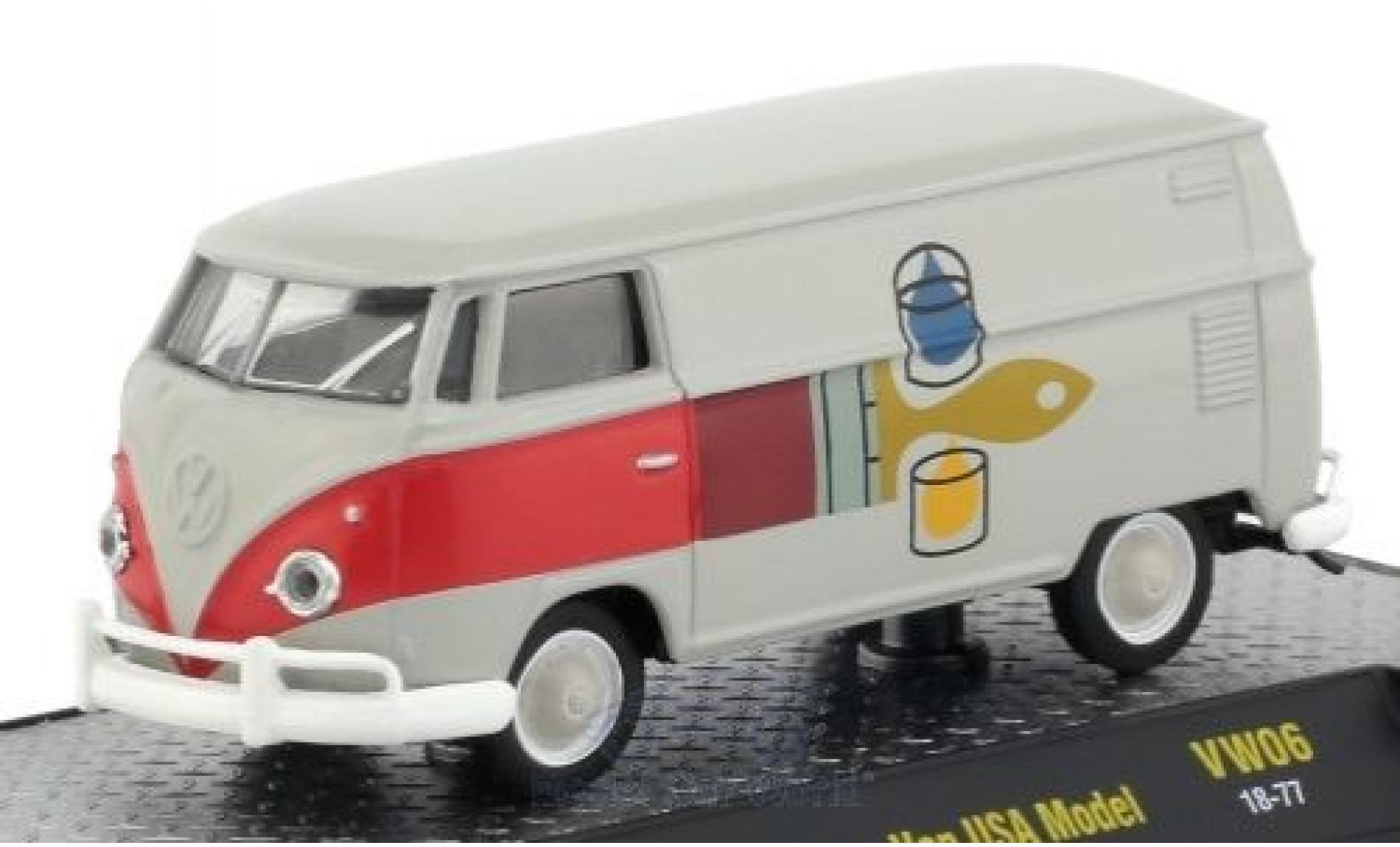 Volkswagen T1 A 1/64 M2 Machines Kastenwagen grise/Dekor 1960 US-Version