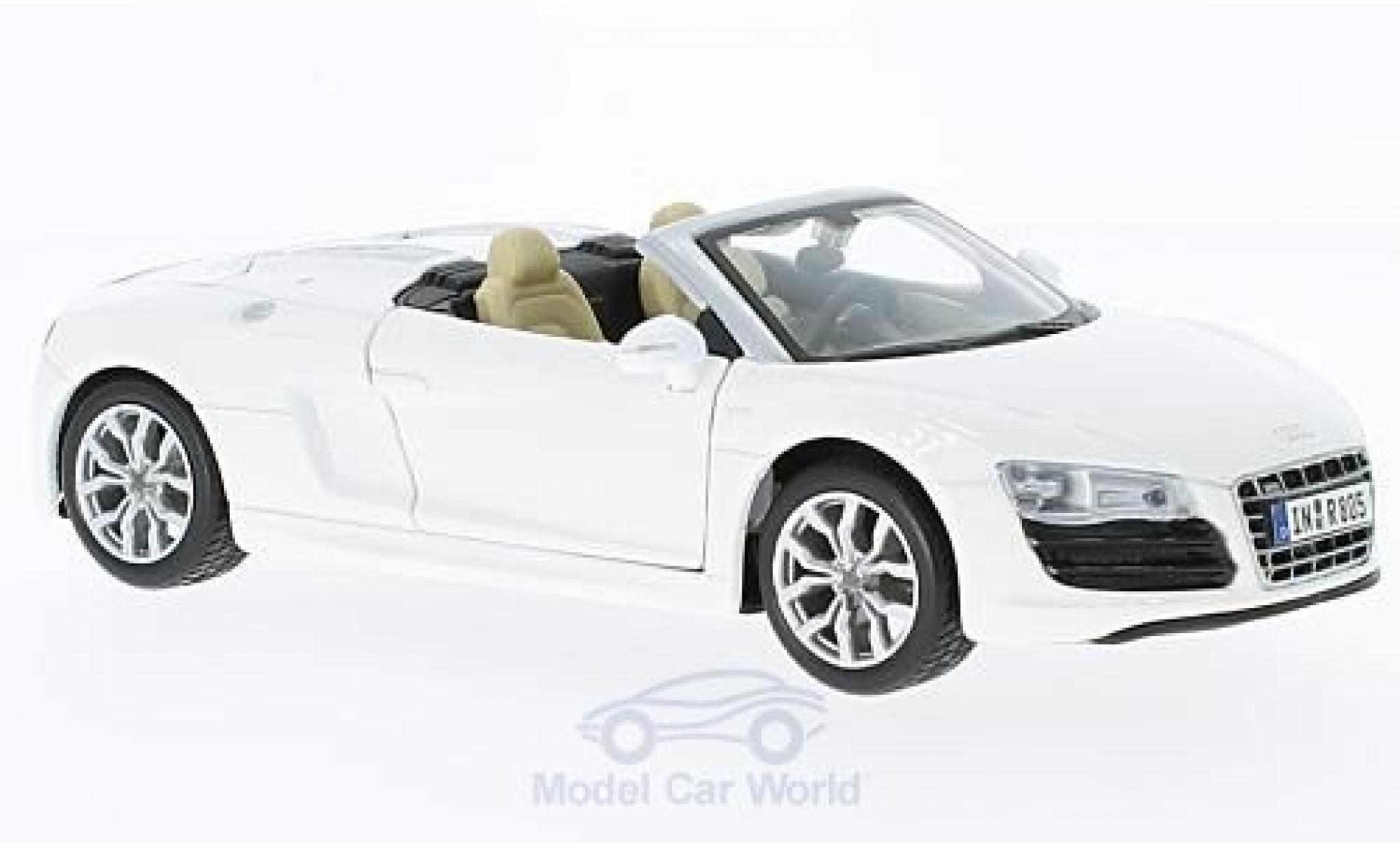 Audi R8 1/24 Maisto Spyder white