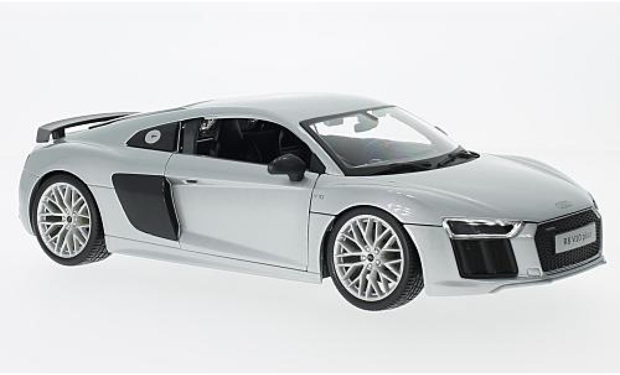Audi R8 1/18 Maisto V10 Plus grey sans Vitrine