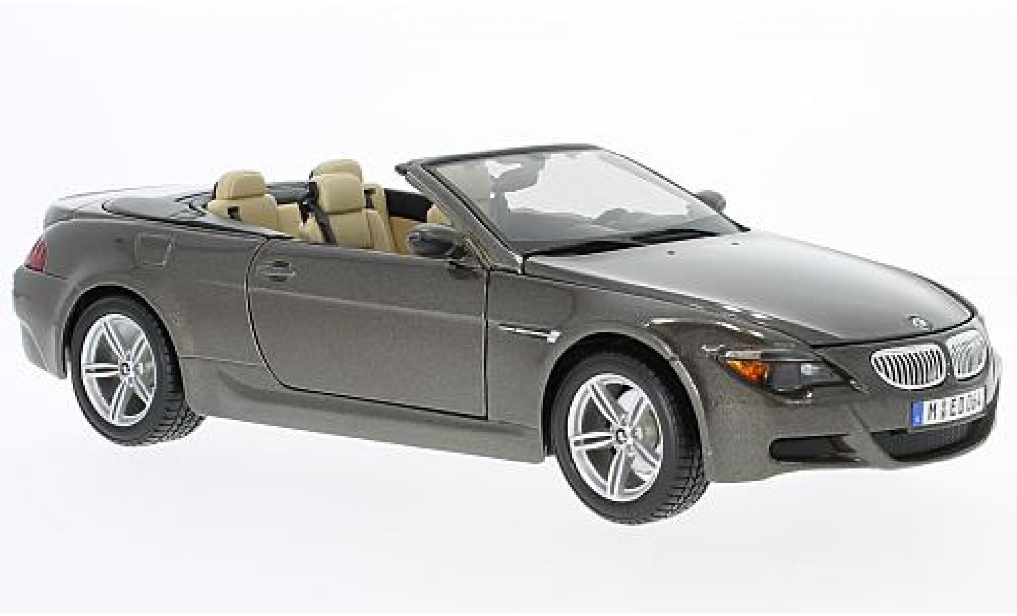 Bmw M6 1/18 Maisto Cabriolet (E64) metallise marron