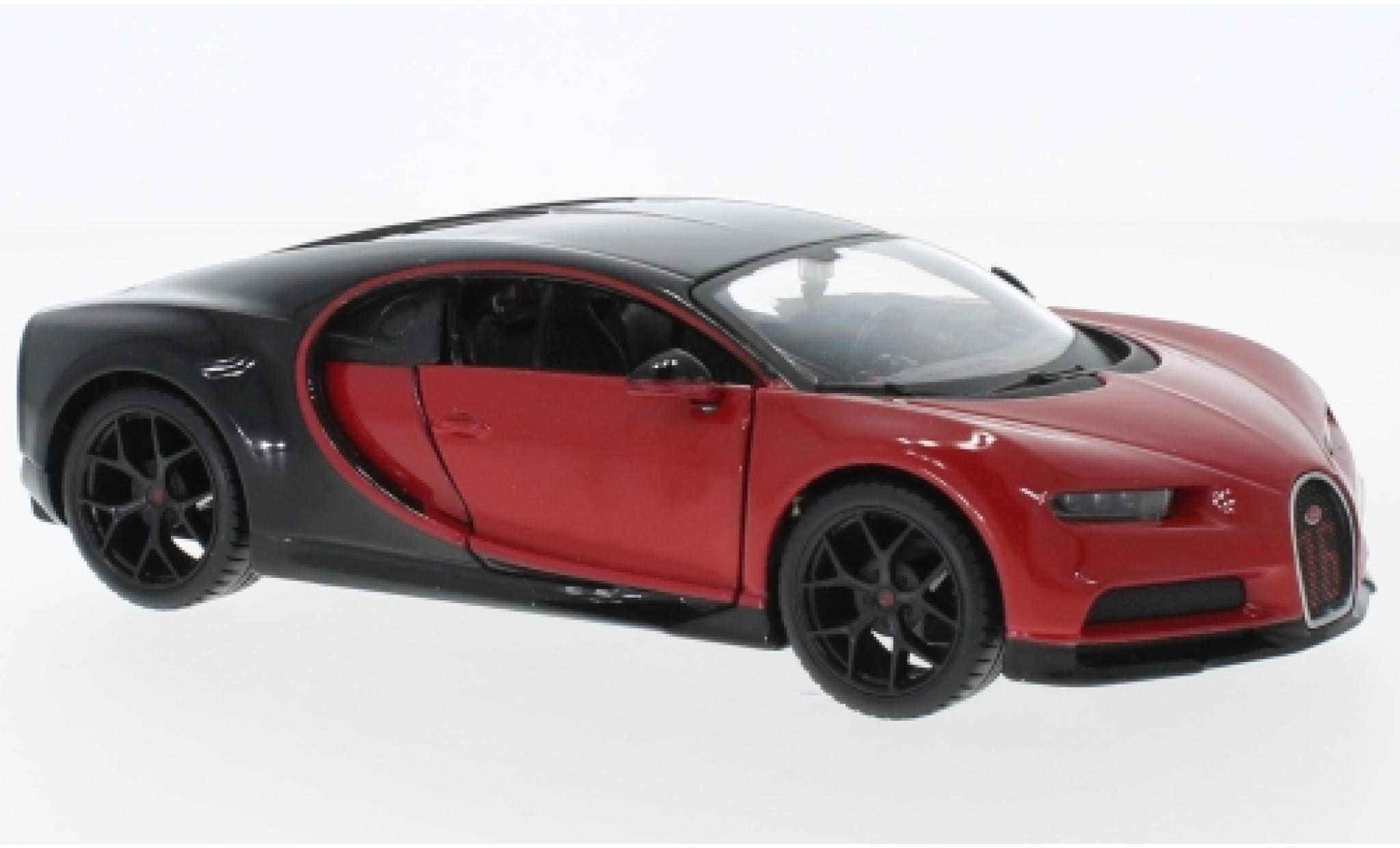 Bugatti Chiron 1/24 Maisto Sport red/black
