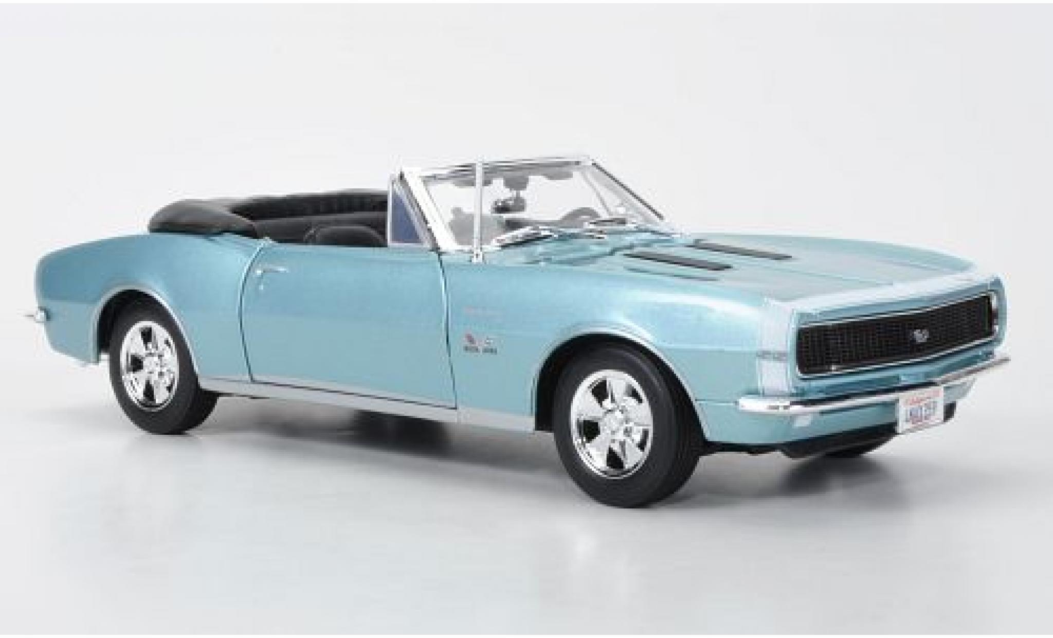 Chevrolet Camaro 1/18 Maisto SS 396 Convertible metallise bleue 1967
