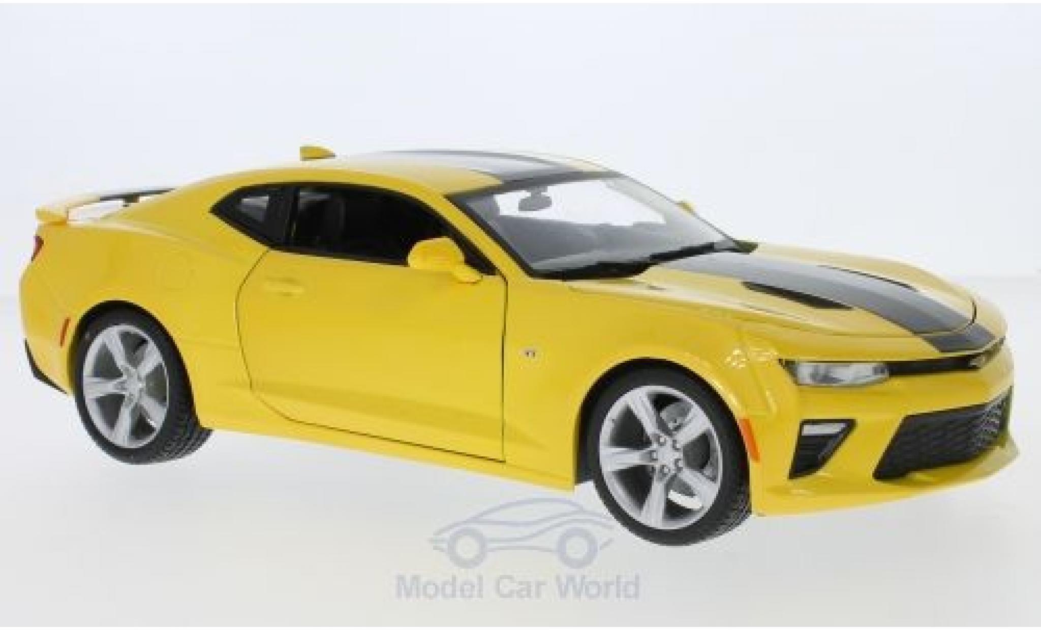 Chevrolet Camaro SS 1/18 Maisto metallise jaune/noire 2016