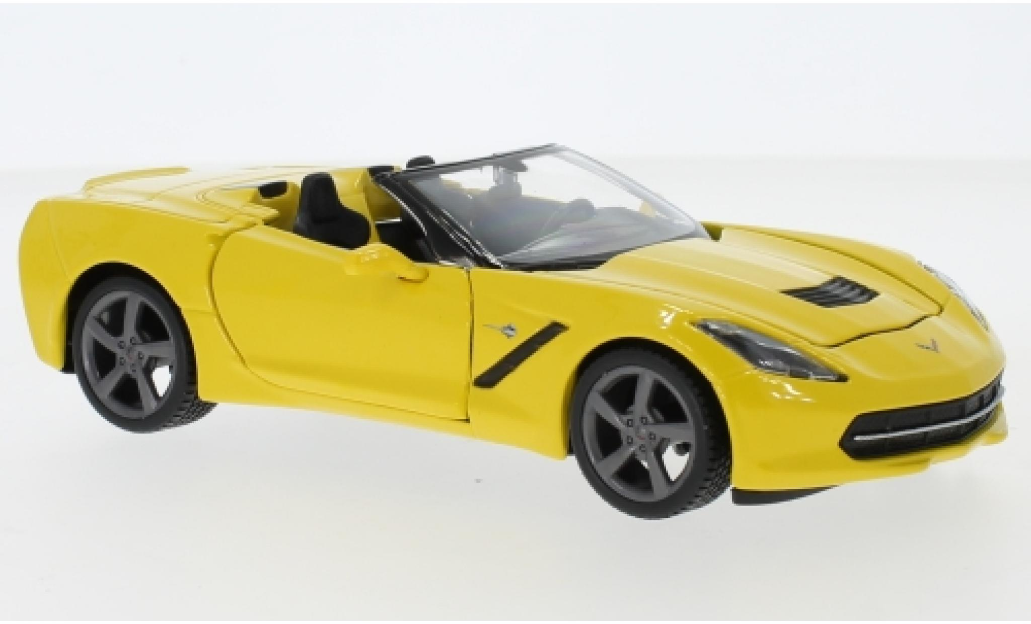 Chevrolet Corvette 1/24 Maisto Stingray (C7) Convertible jaune 2014