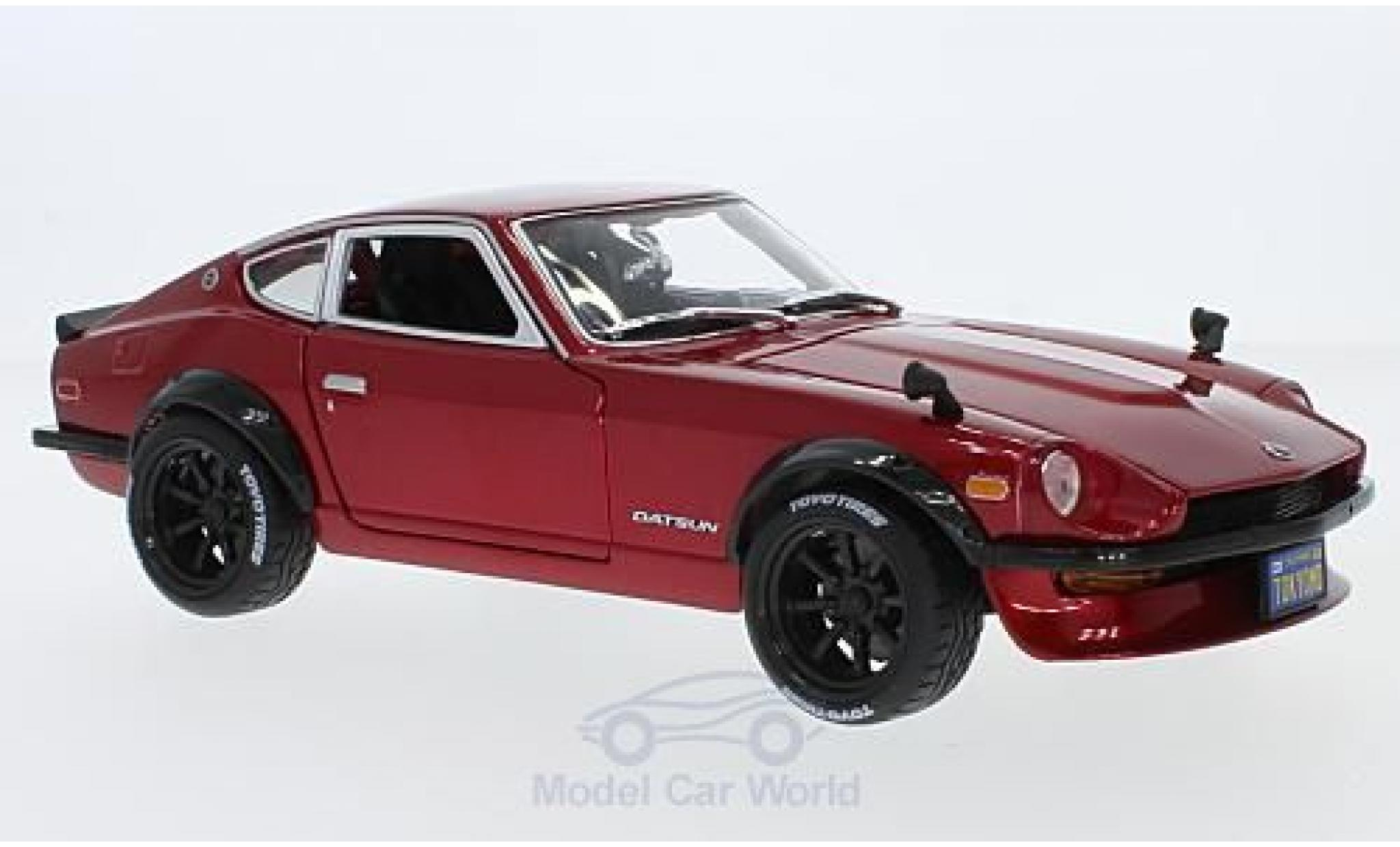 Datsun 240Z 1/18 Maisto metallise rouge 1971