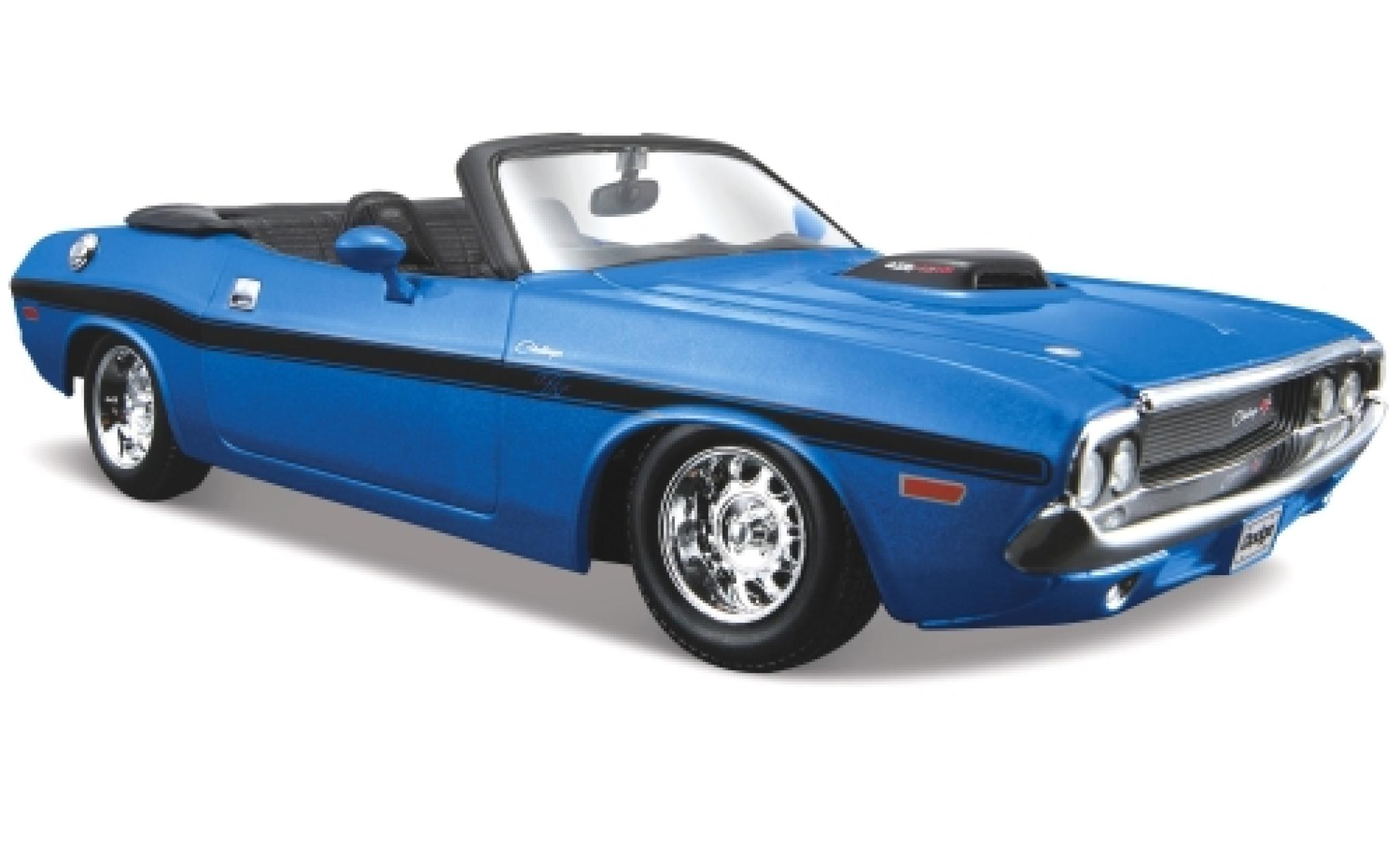 Dodge Challenger 1/24 Maisto R/T Convertible metallise bleue 1970