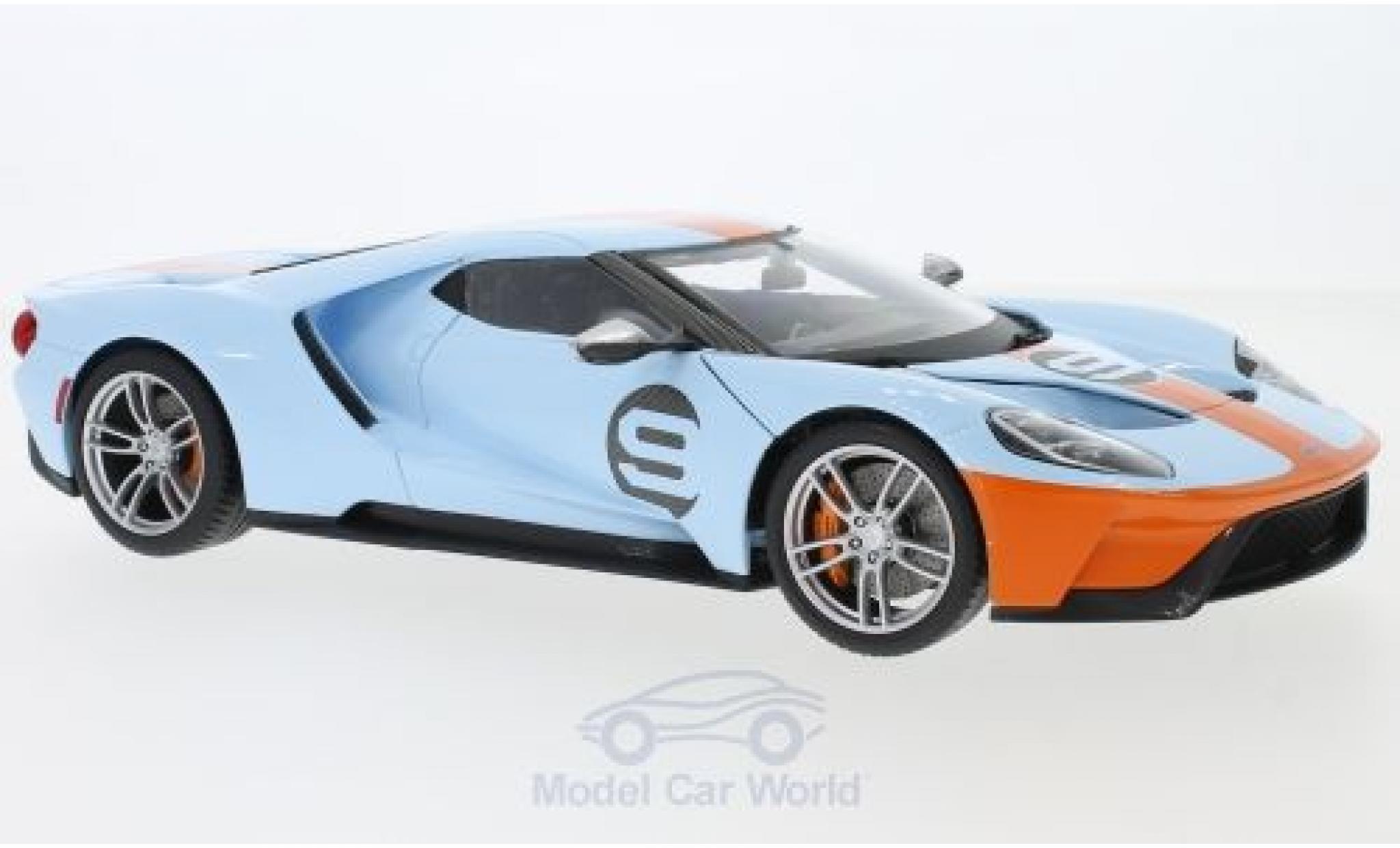 Ford GT 1/18 Maisto bleue/orange 2017