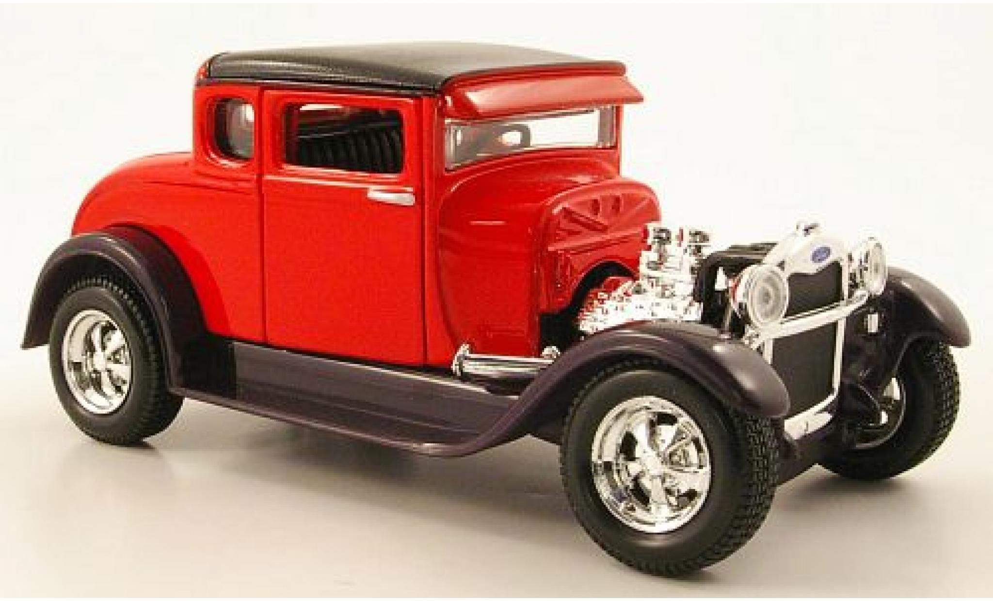 Ford Model A 1/24 Maisto Hot Rod rouge/noire 1929 sans Vitrine