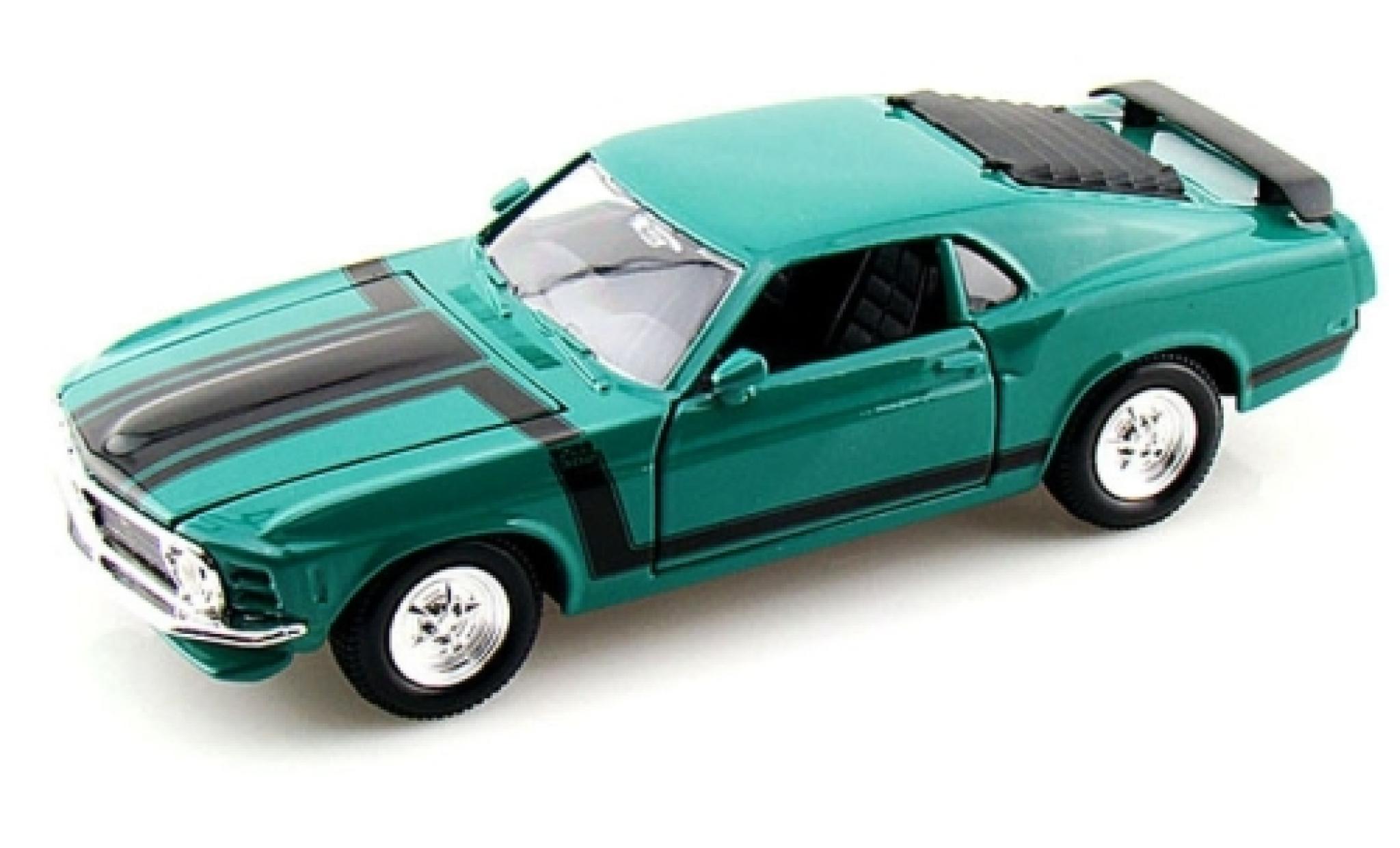 Ford Mustang 1/24 Maisto Boss 302 verte 1970