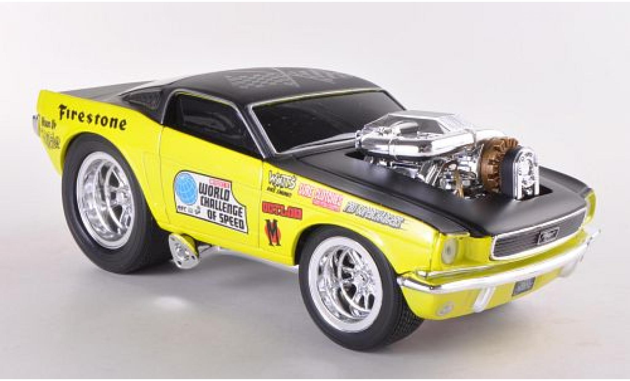 Ford Mustang 1/24 Maisto GT jaune/noire 1966