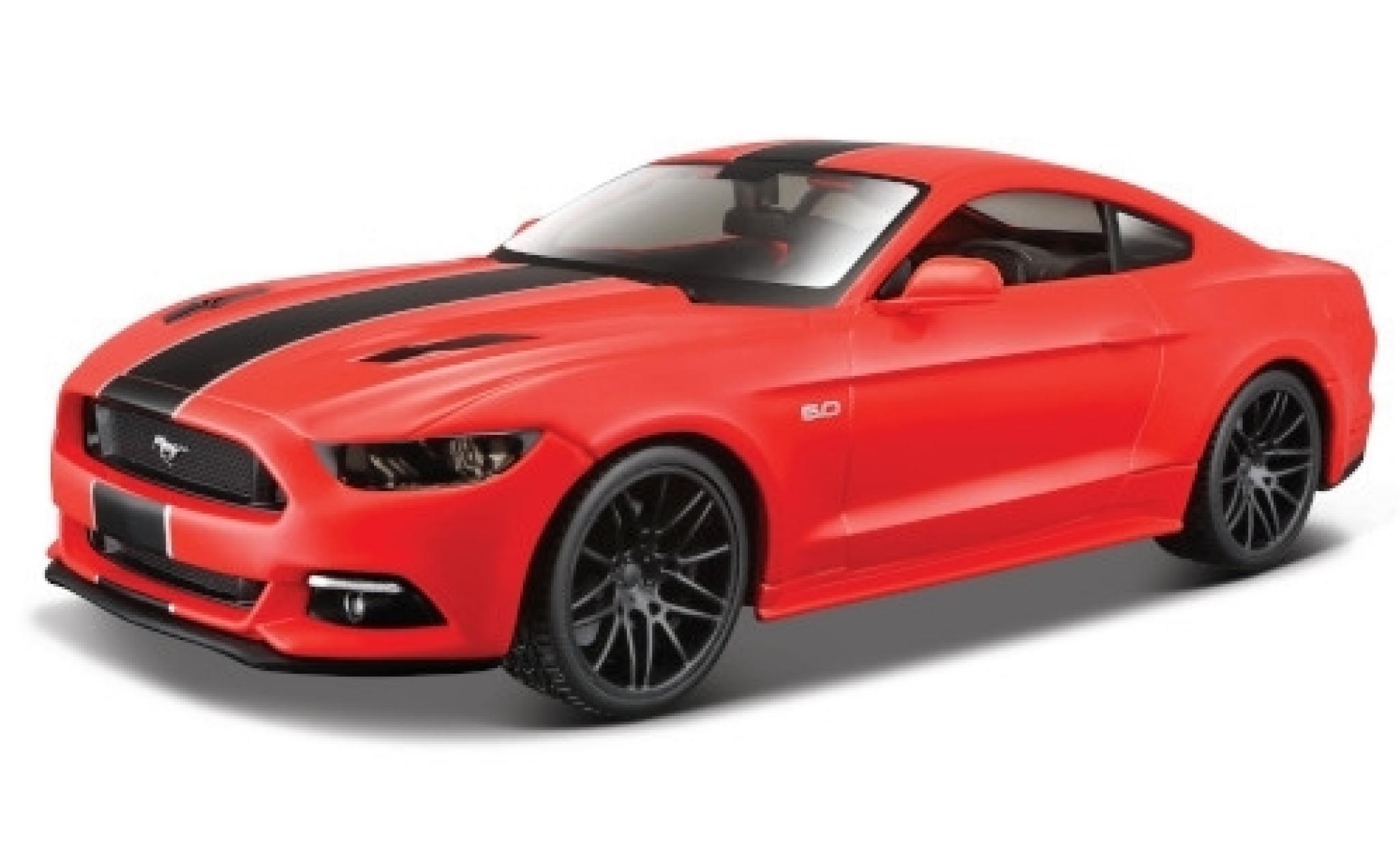 Ford Mustang 1/24 Maisto GT rouge/noire 2015
