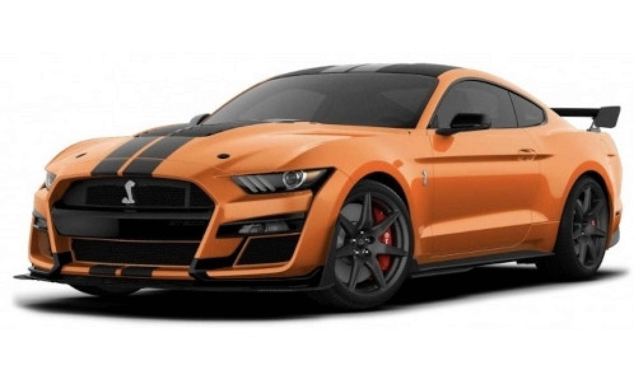 Ford Mustang 1/18 Maisto Shelby GT500 orange/matt-noire 2020
