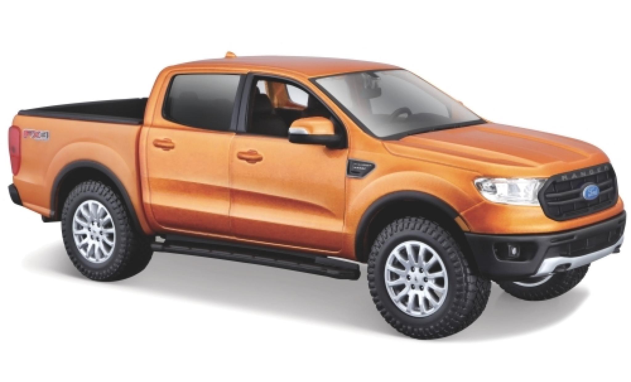 Ford Ranger 1/24 Maisto métallisé orange 2019 1:27