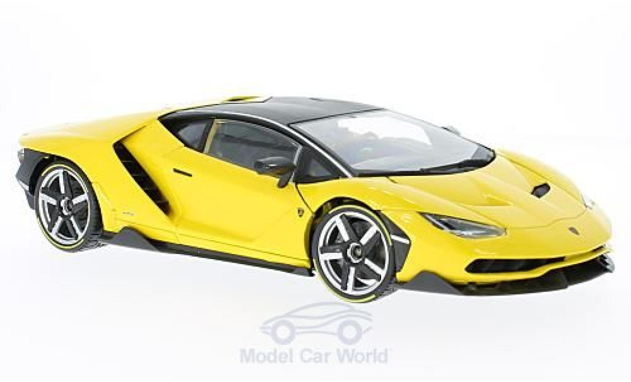 Lamborghini Centenario 1/18 Maisto métallisé jaune Exclusive -Edition