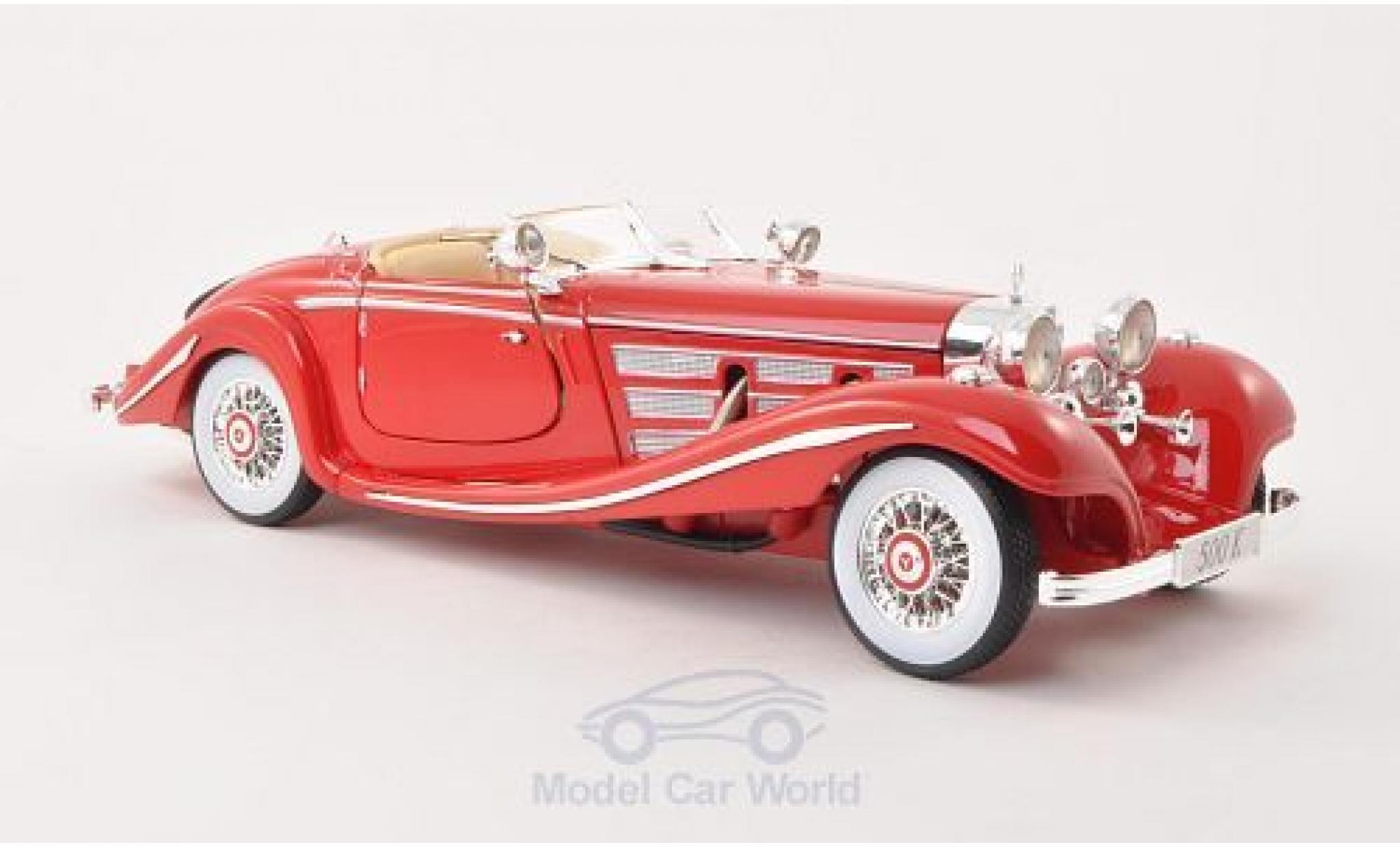 Mercedes 500 1/18 Maisto K rouge 1936
