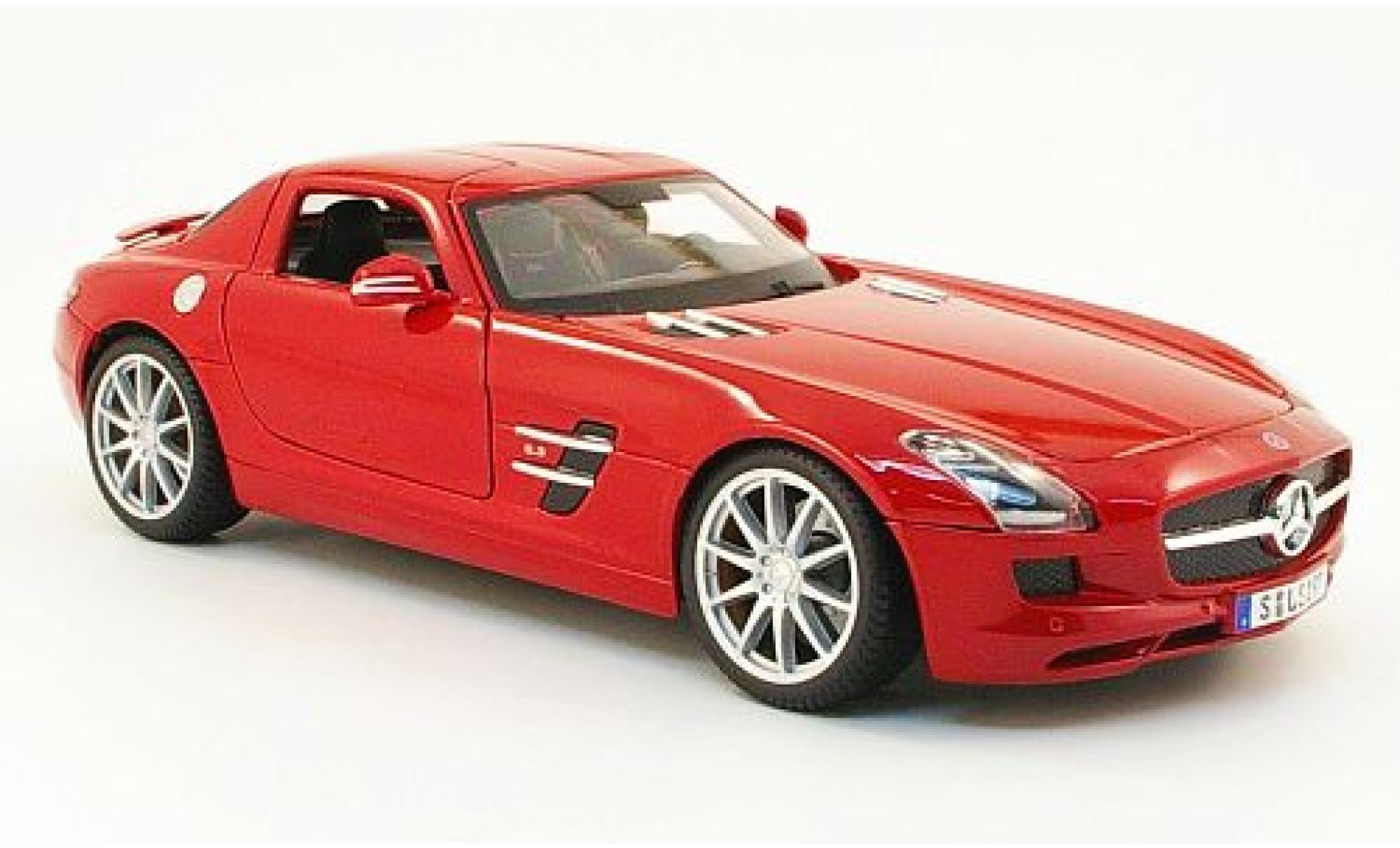 Mercedes SLS 1/18 Maisto AMG (C197) métallisé rouge 2010