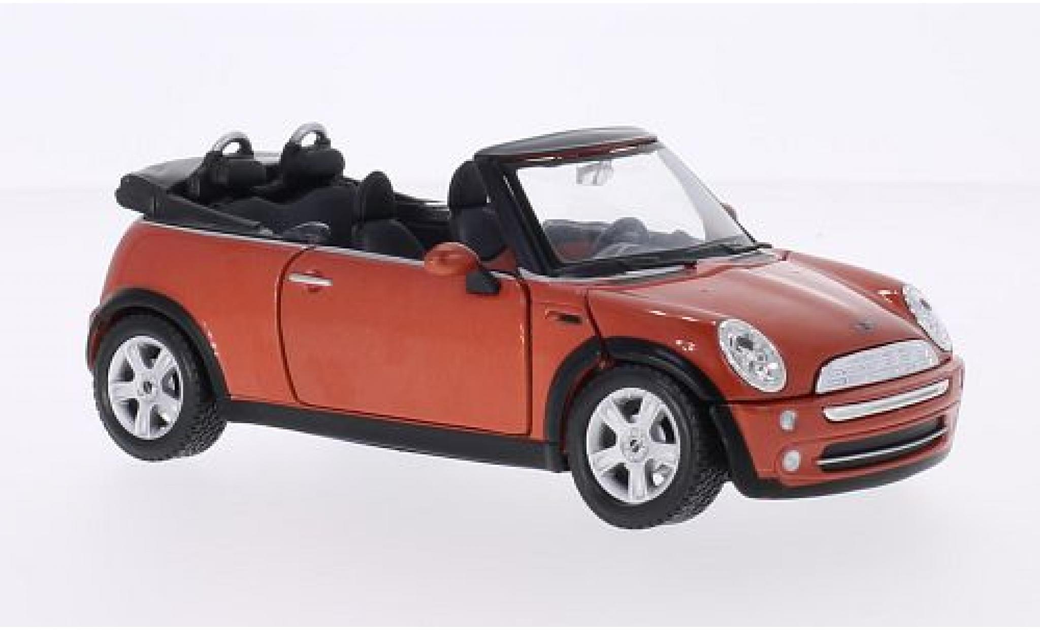 Mini Cooper 1/24 Maisto Cabriolet metallise orange 2004