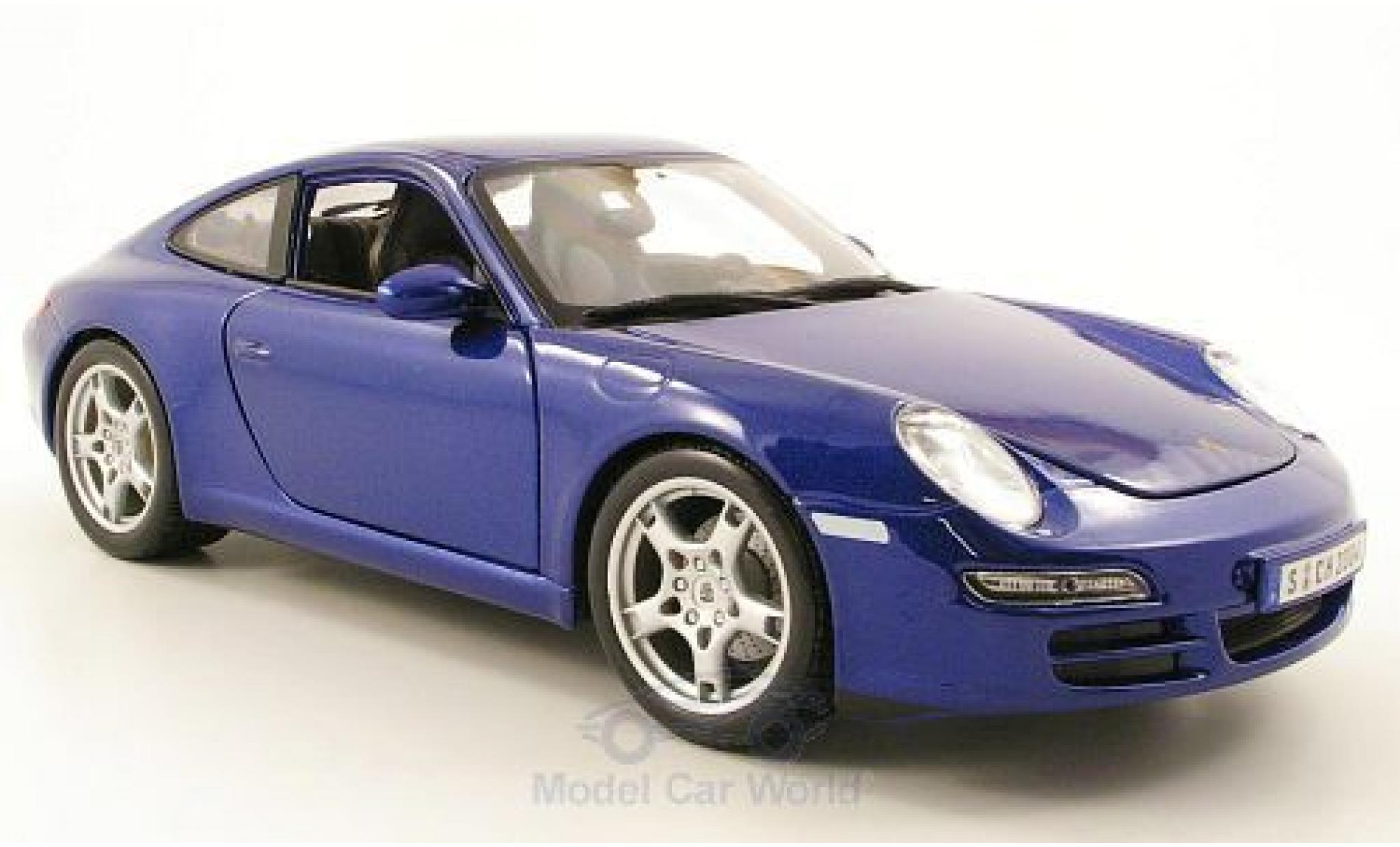 Porsche 997 SC 1/18 Maisto Carrera S (997) metallic-bleue