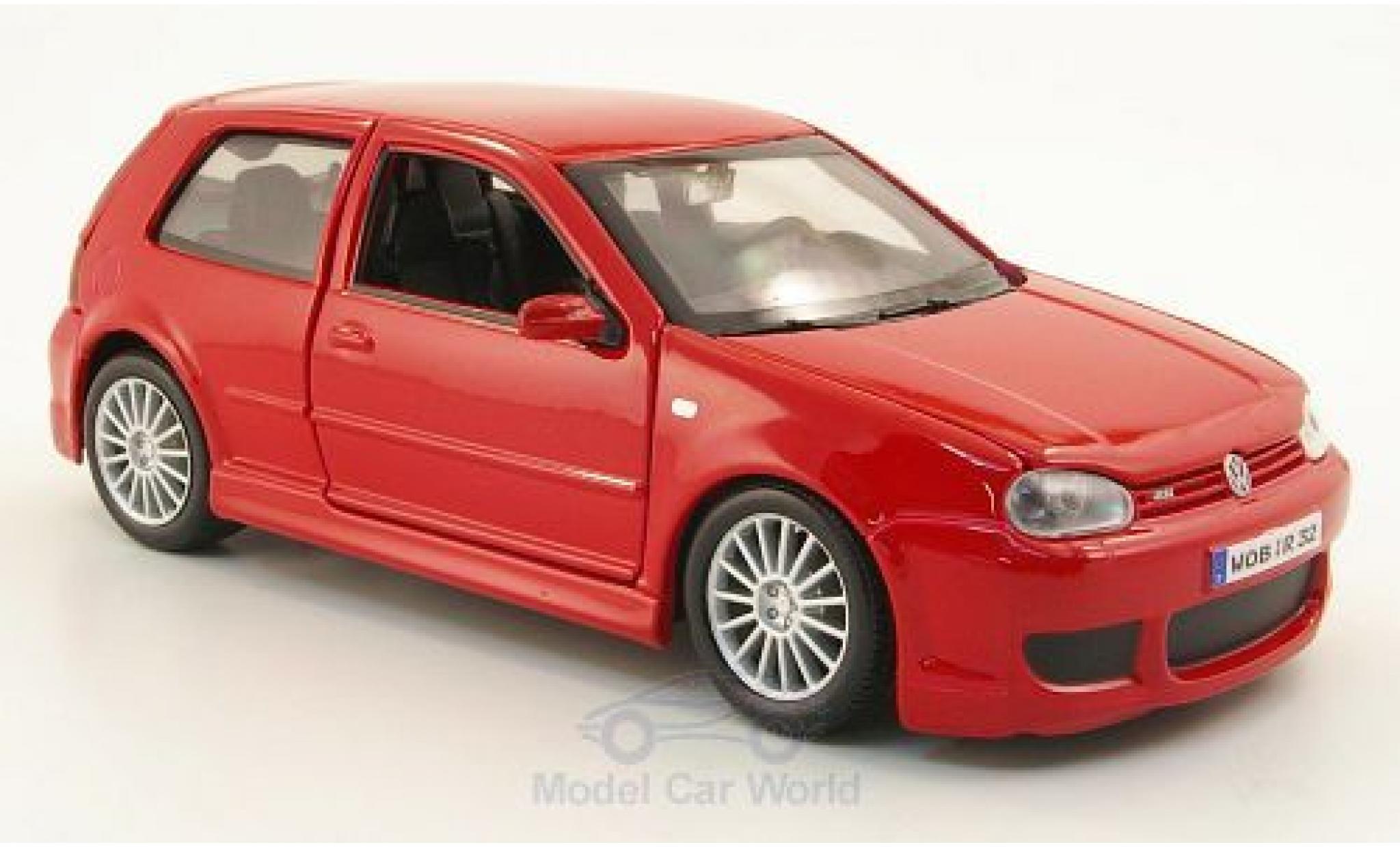 Volkswagen Golf V 1/24 Maisto IV R32 rouge 2006