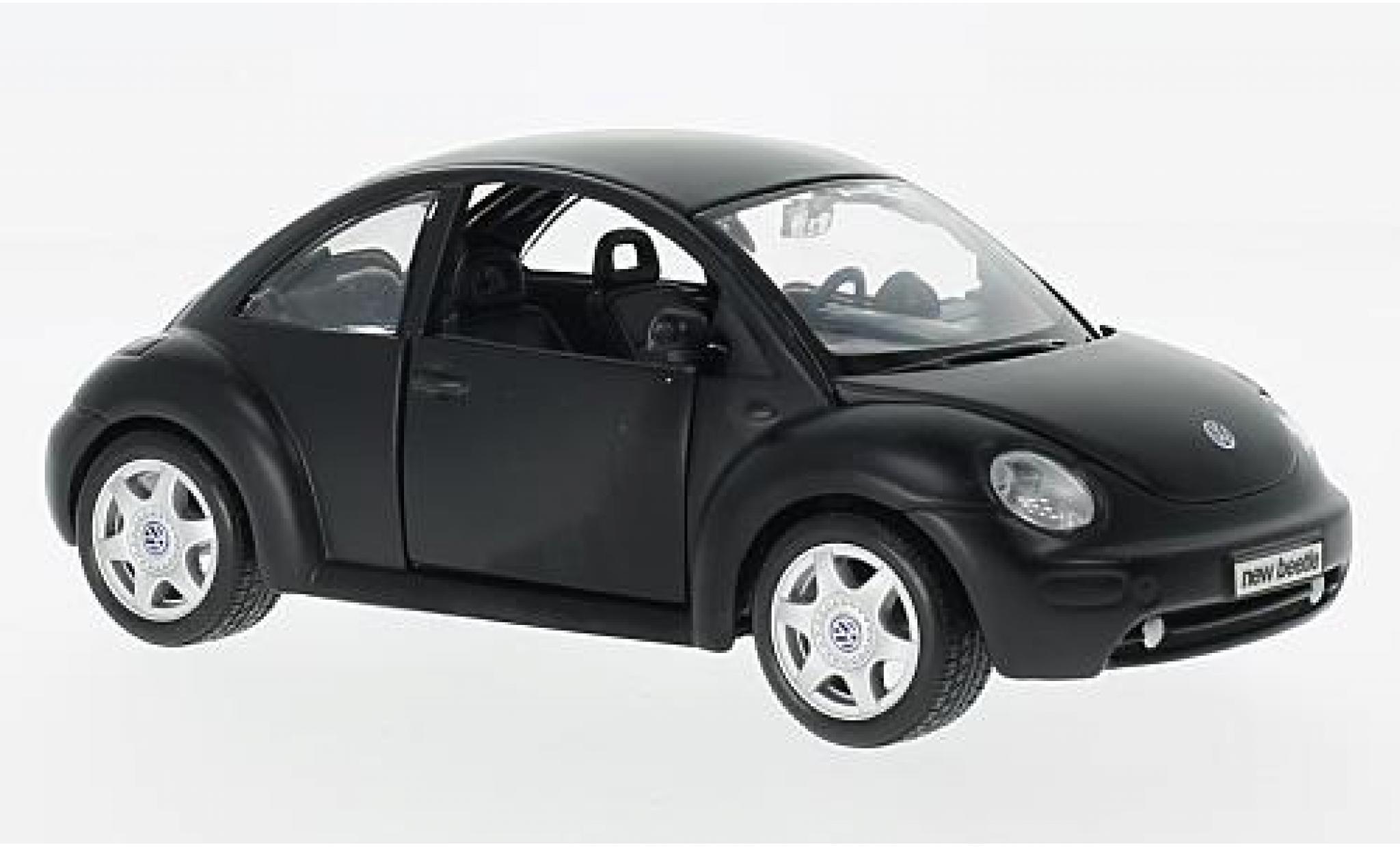 Volkswagen New Beetle 1/24 Maisto matt-noire l'éce 1:25 sans Vitrine