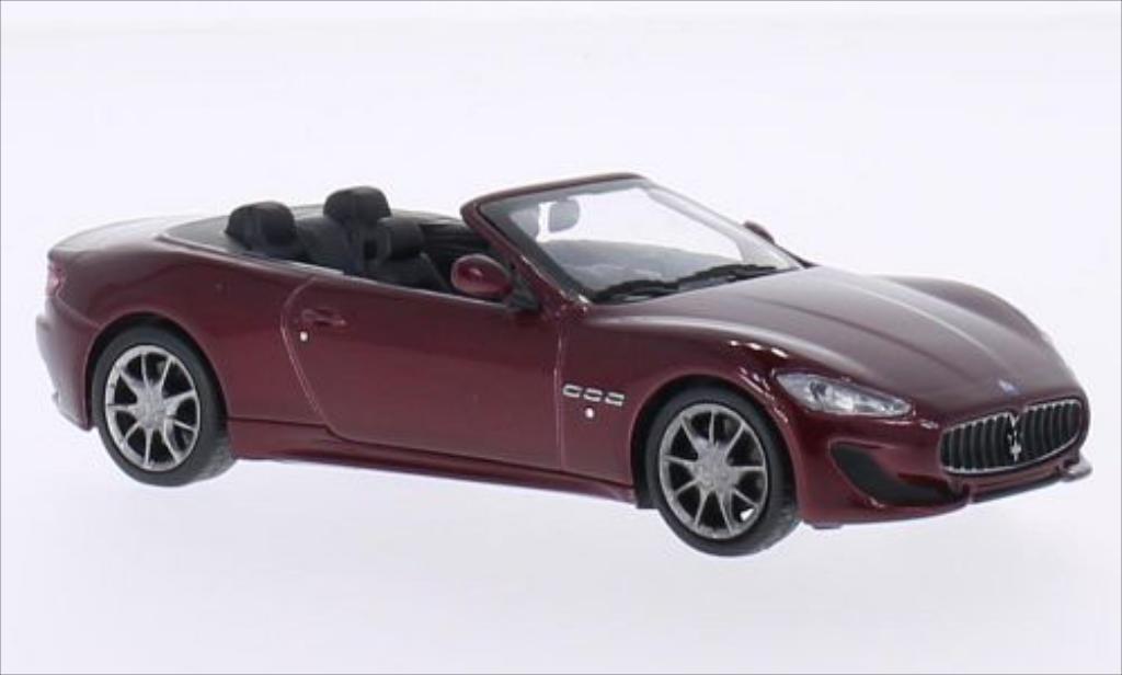 Maserati GranCabrio 1/43 WhiteBox Sport rouge 2013 miniature