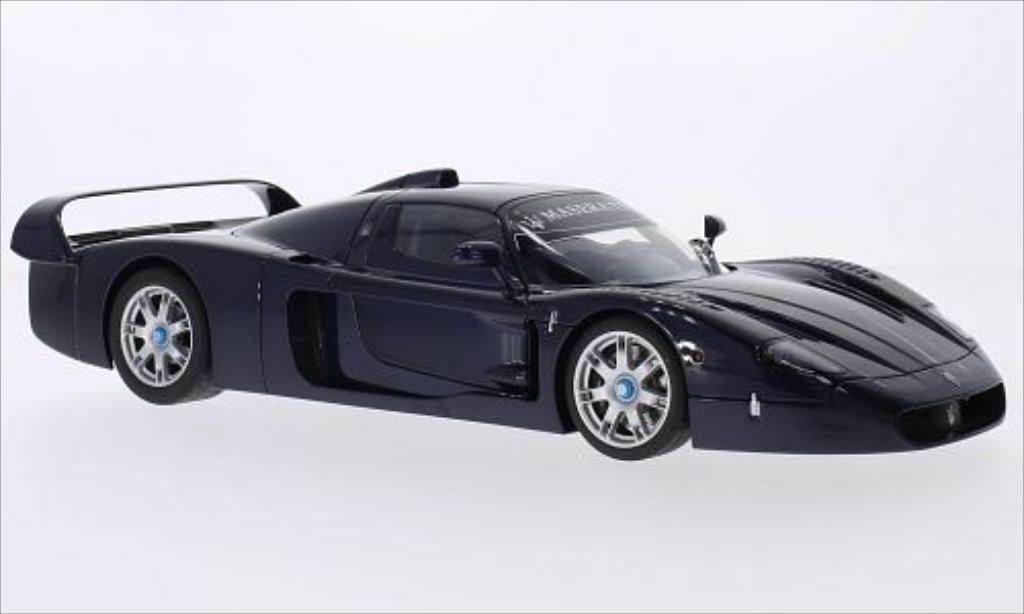 Maserati MC12 1/18 Autoart metallic-bleu 2004 miniature