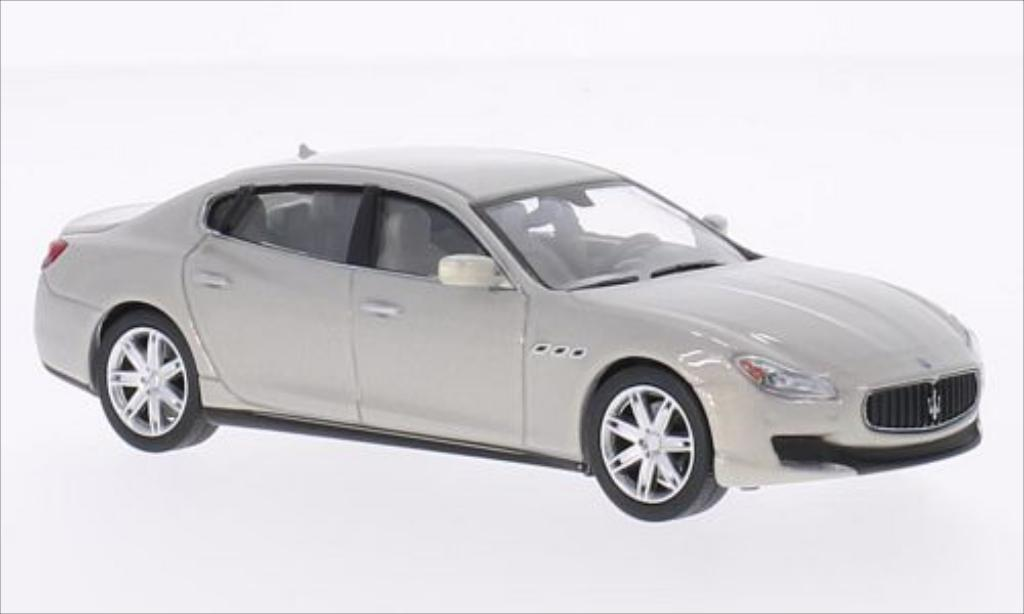 Maserati Quattroporte 1/43 WhiteBox GTS metallise grise 2013 miniature