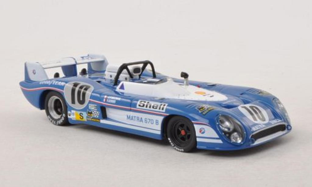 Matra MS670B 1/43 IXO No.10 24h Le Mans 1973 miniature