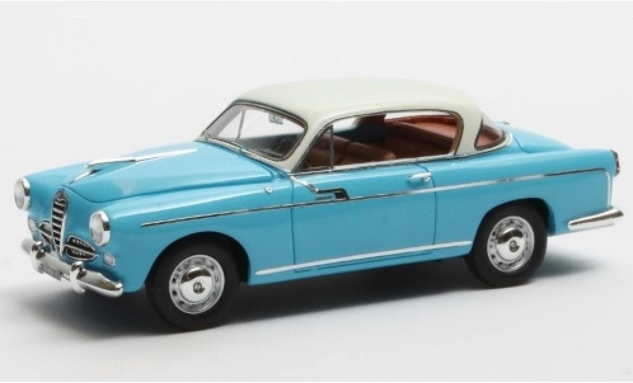 Alfa Romeo 1900 1/43 Matrix Super Boano Primavera bleue/blanche 1955